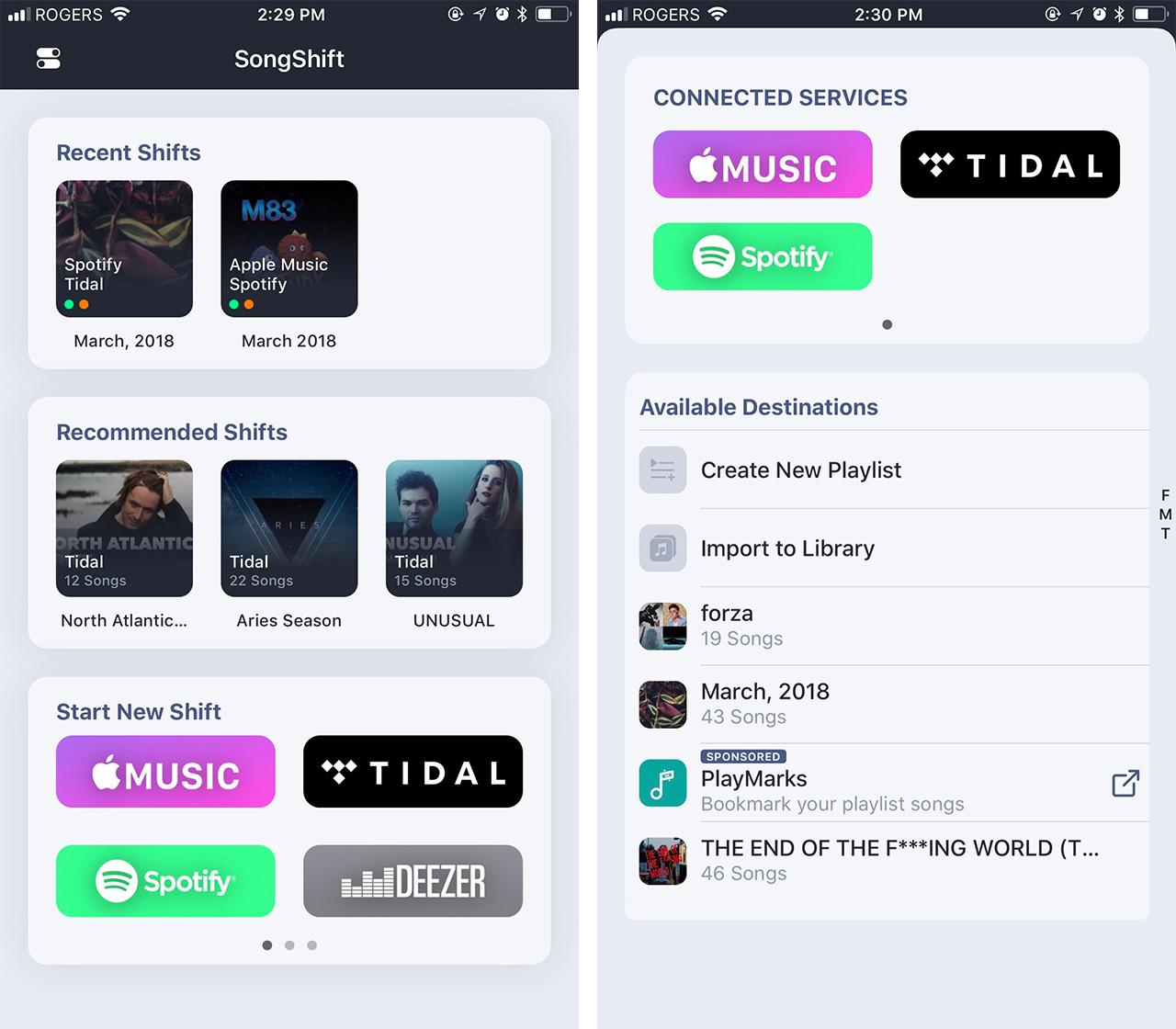 SongShift screenshot