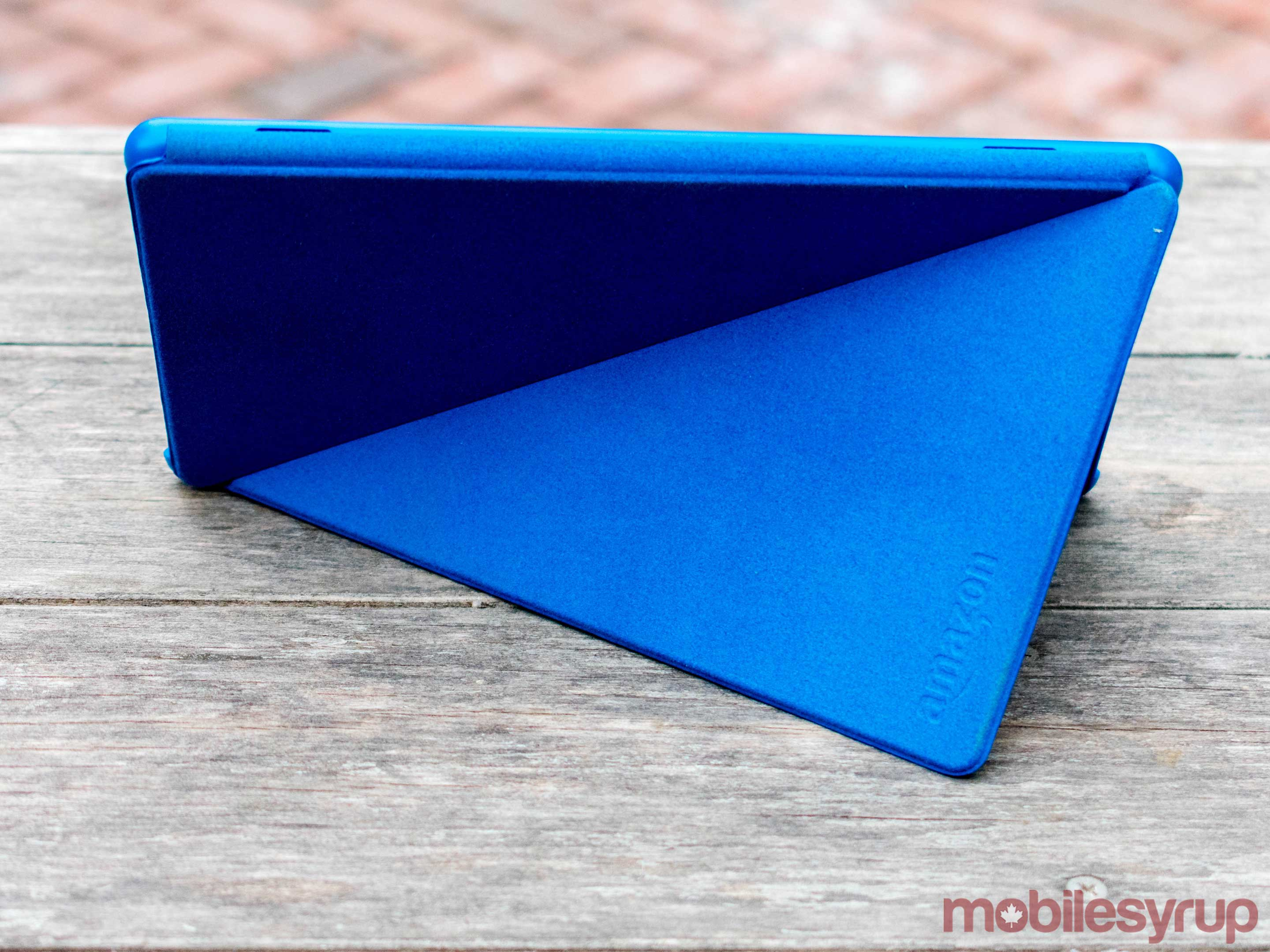 Marine blue Amazon tablet cover.