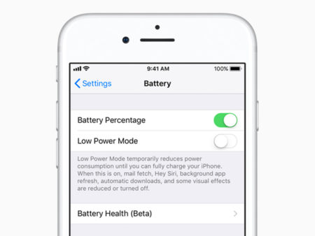 iOS 11.3 battery