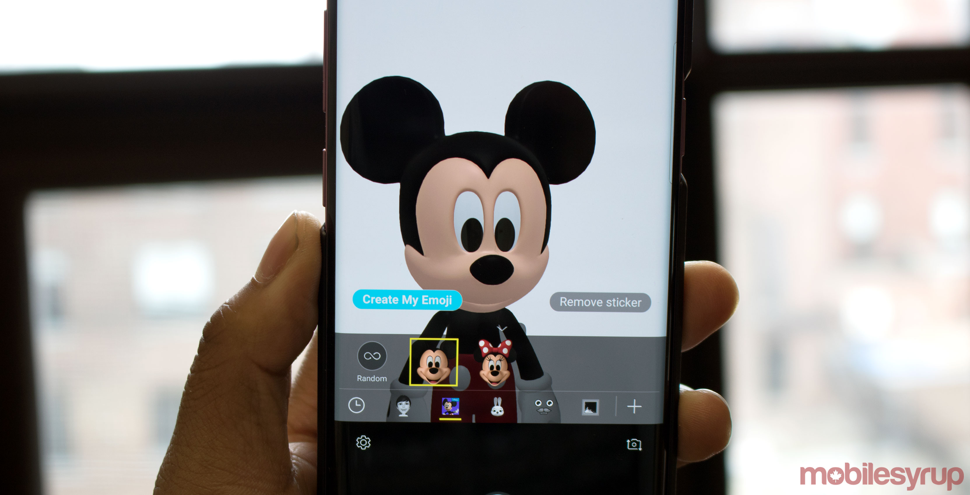 Mickey Mouse AR Emoji on Galaxy S9