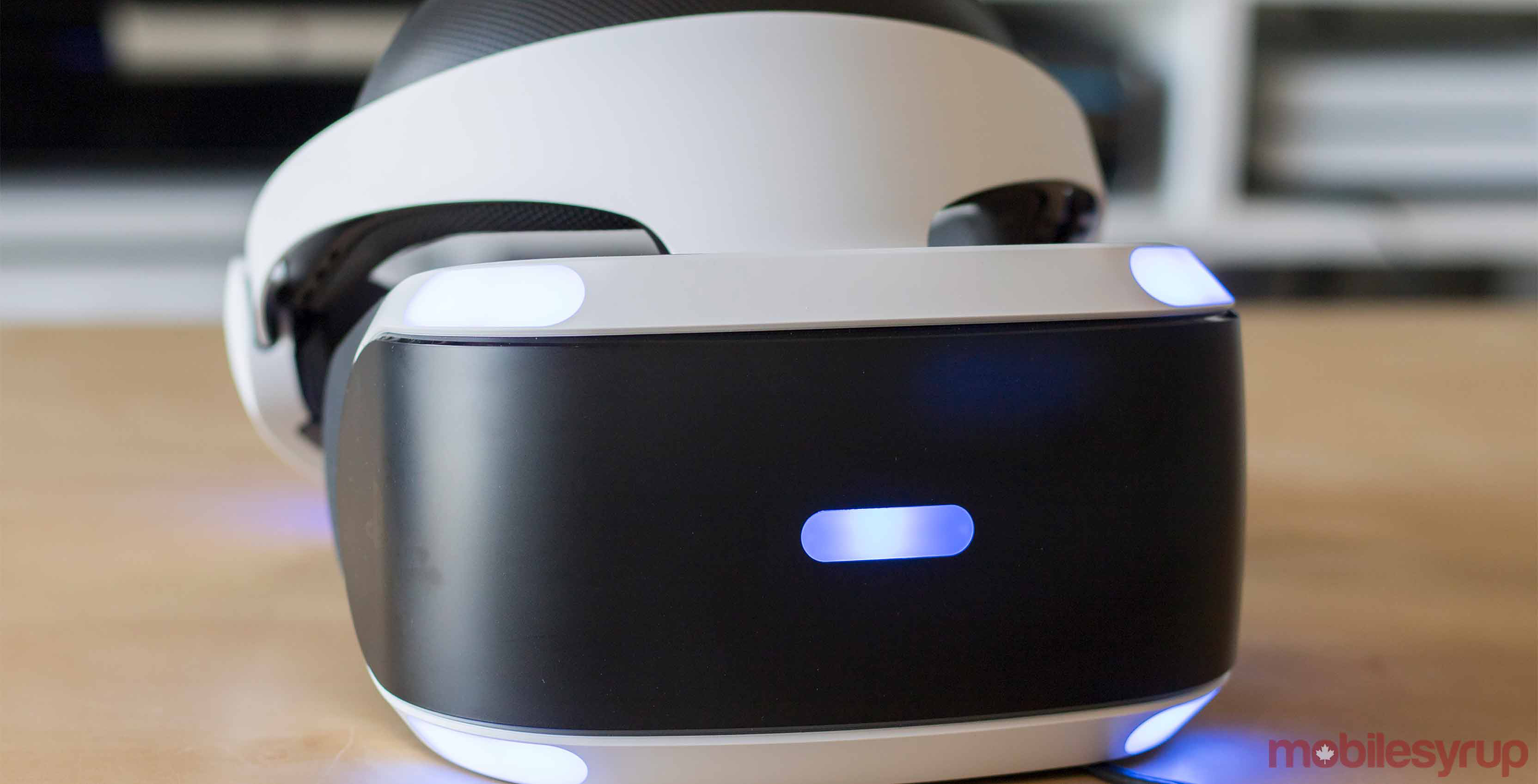 PlayStation VR headset on table