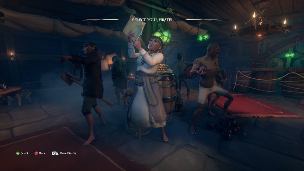 Sea of Thieves character selection