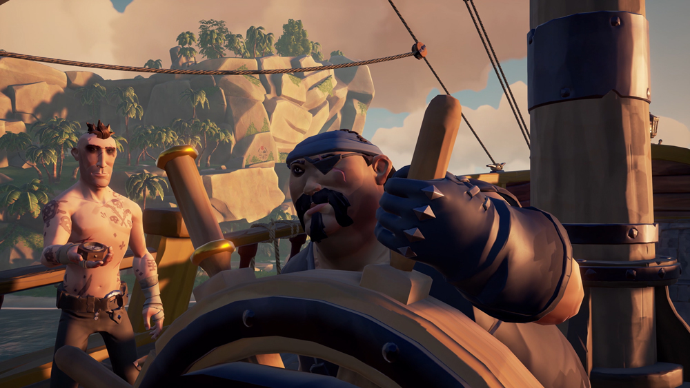 Sea of Thieves steering ship