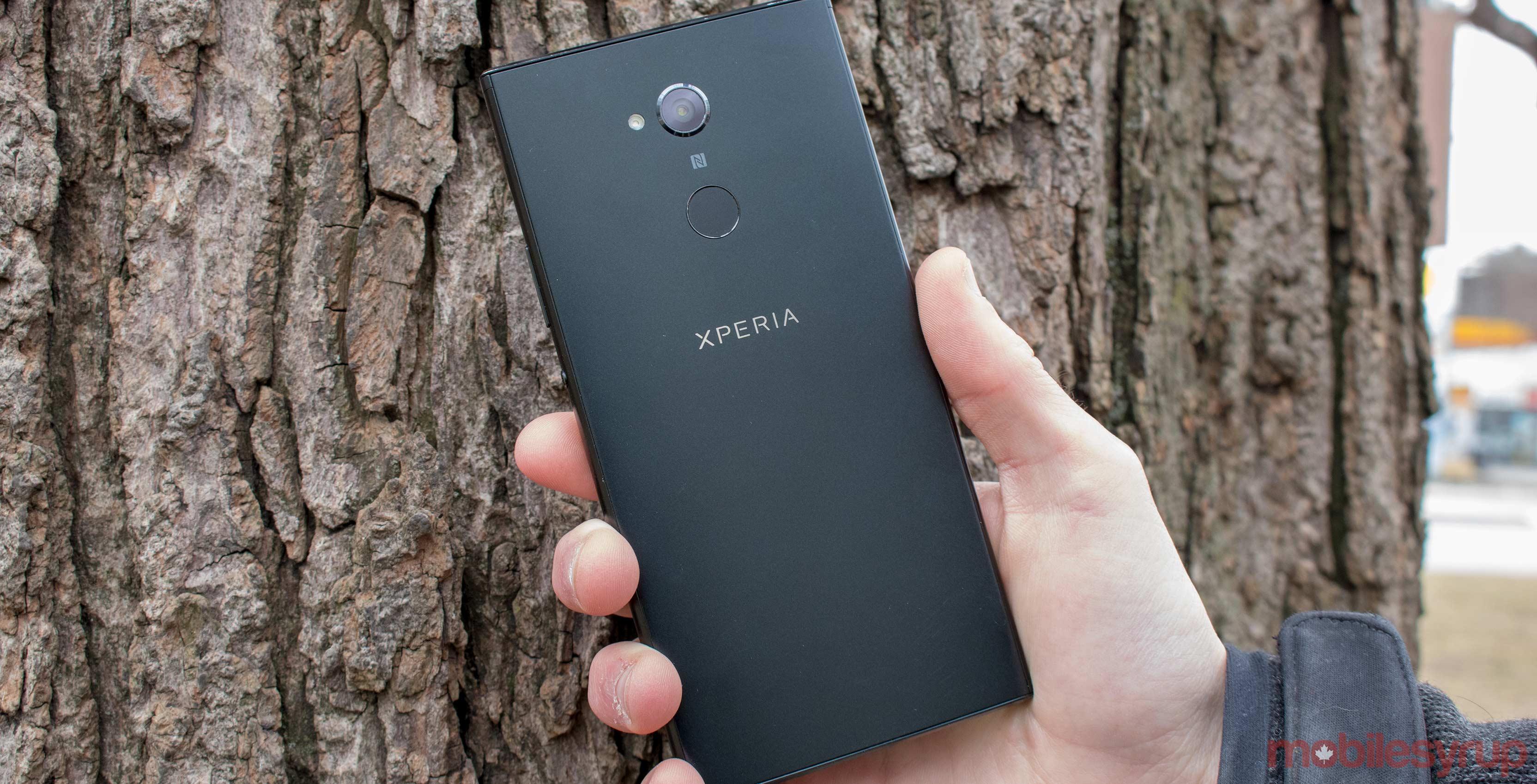 Sony Xperia XA2 Ultra on the back
