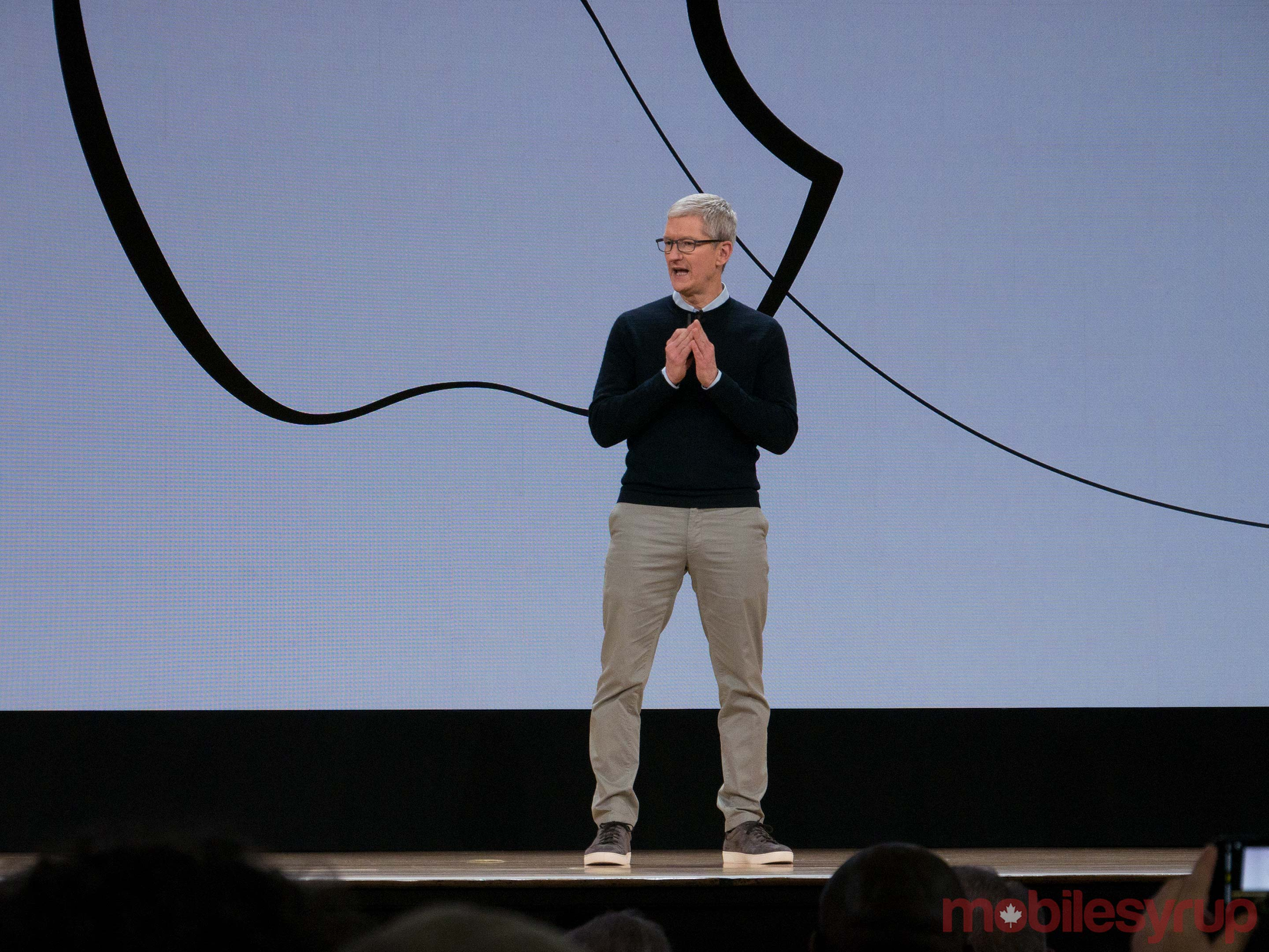 Tim Cook at Apple's education event