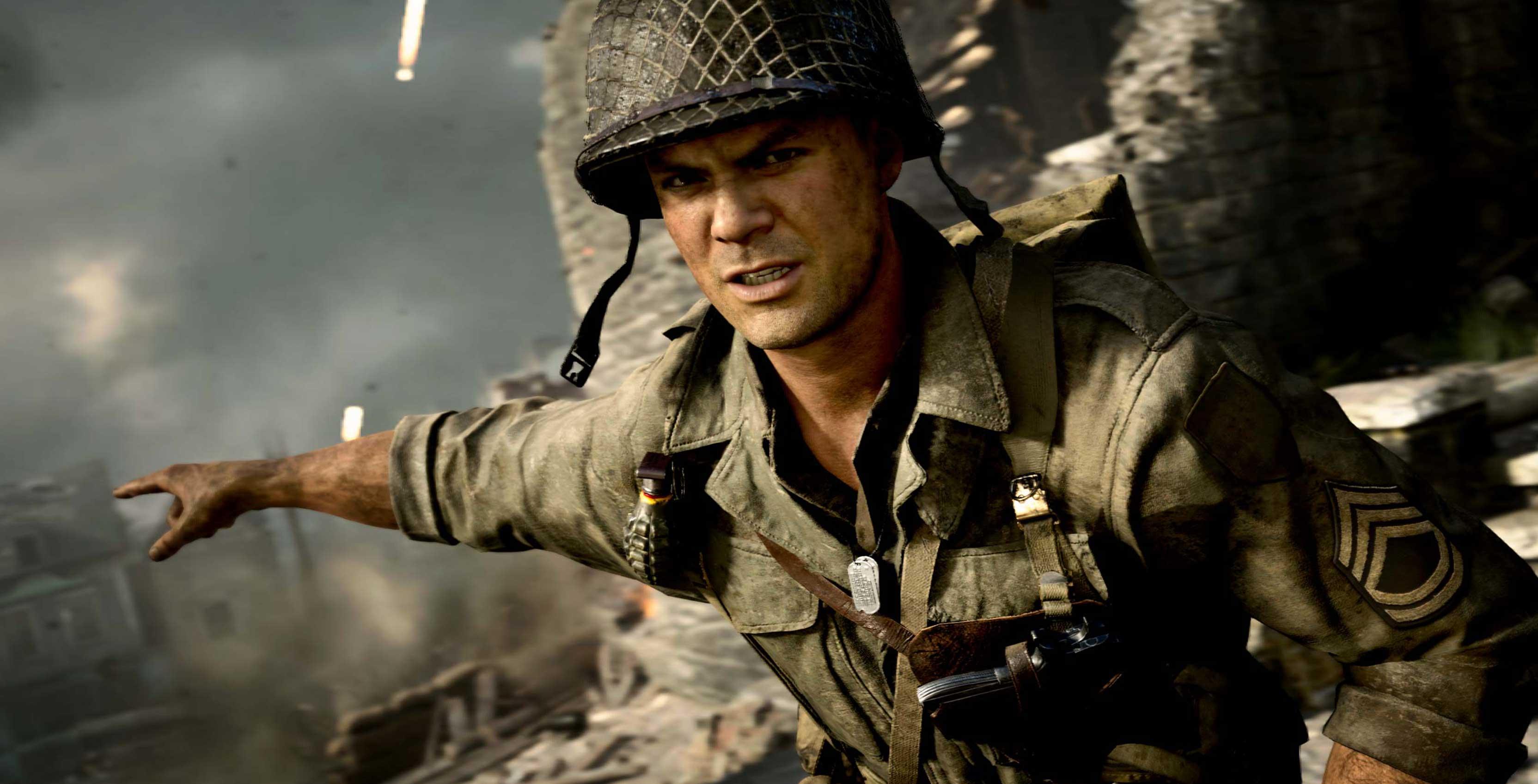 Call of Duty World War II soldier