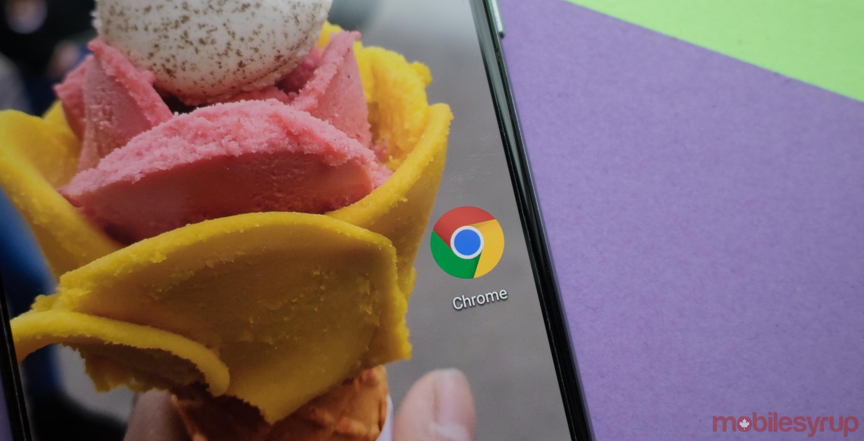 Google Chrome with a gelato