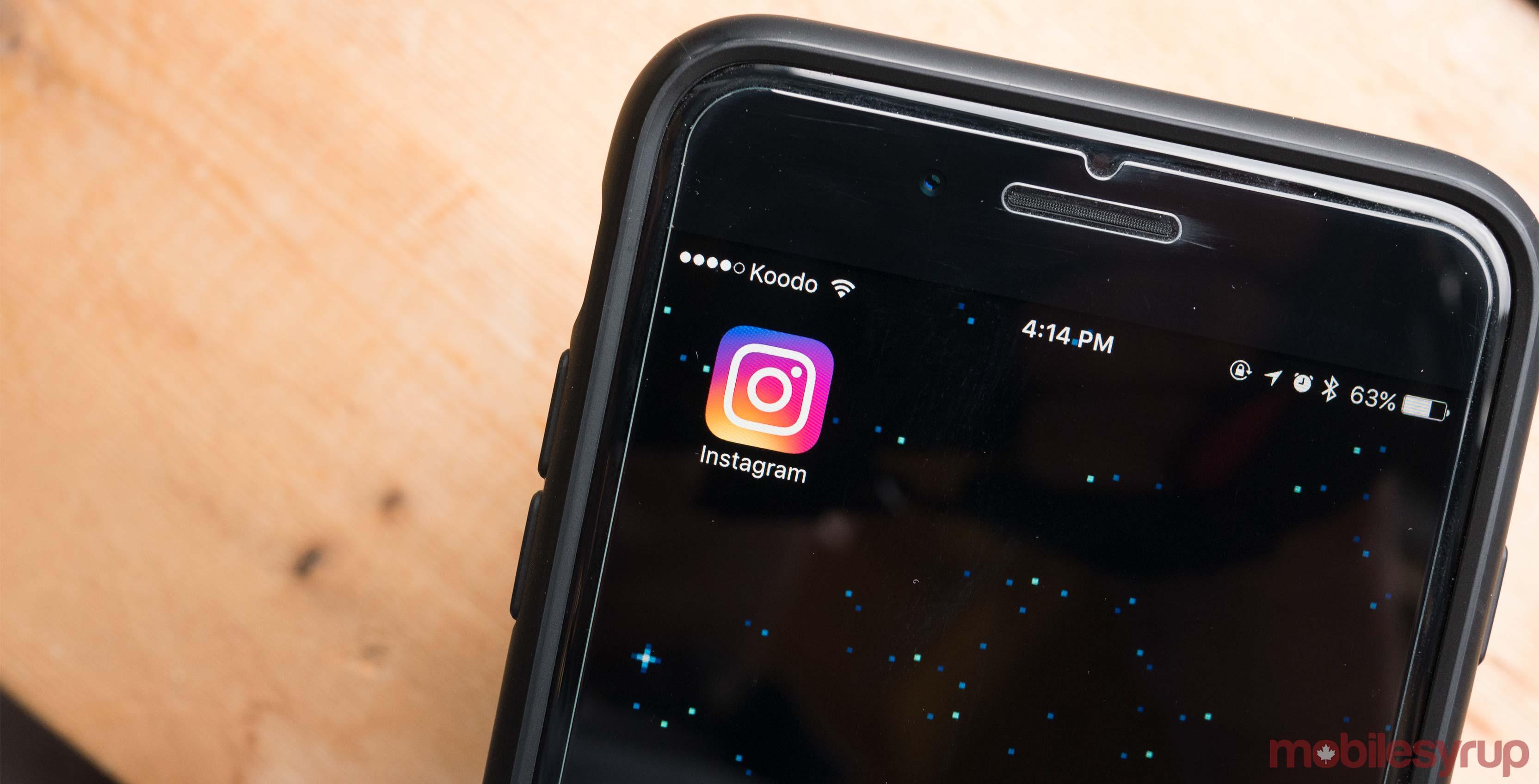 Instagram app iOS