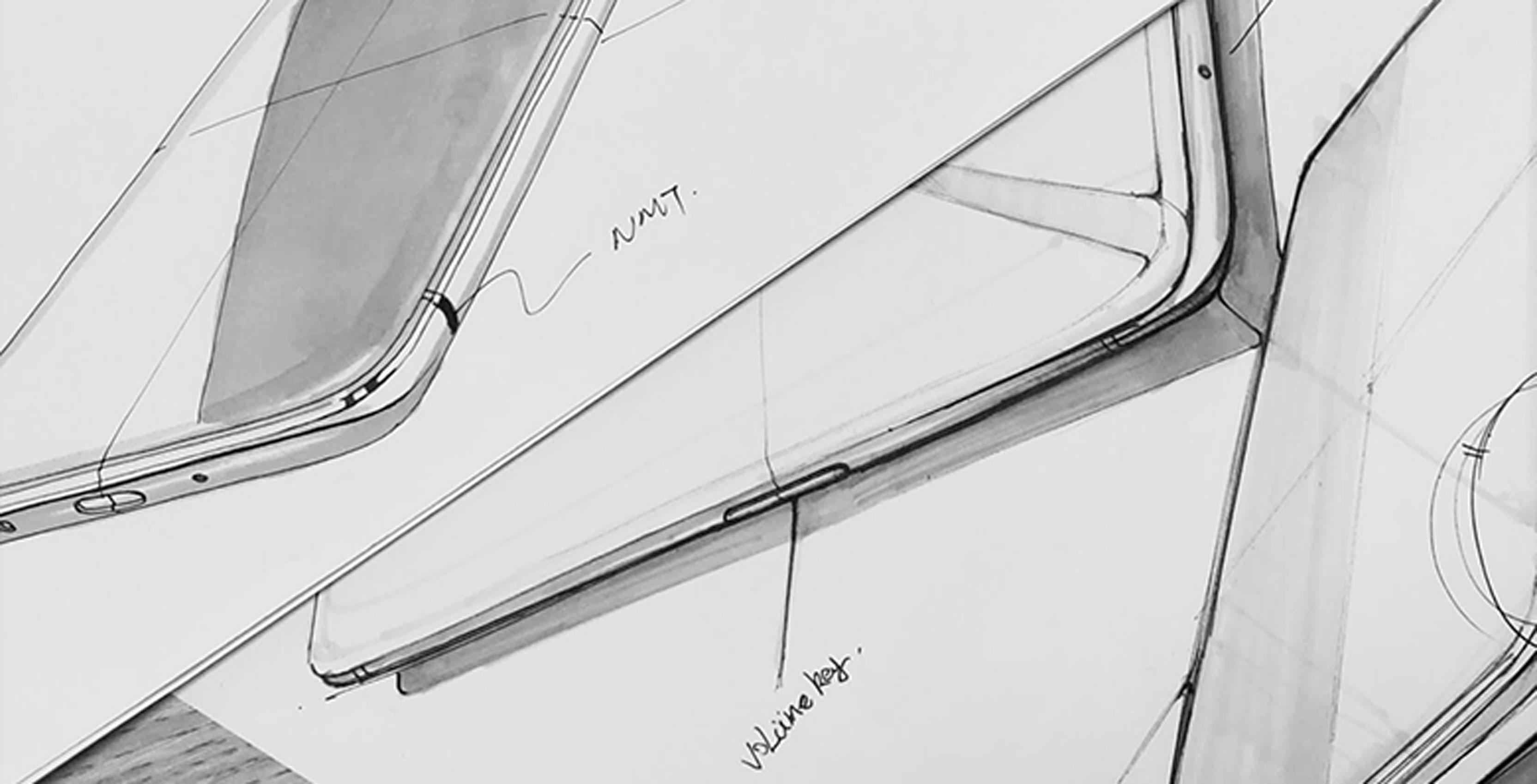 OnePlus 6 design sketch