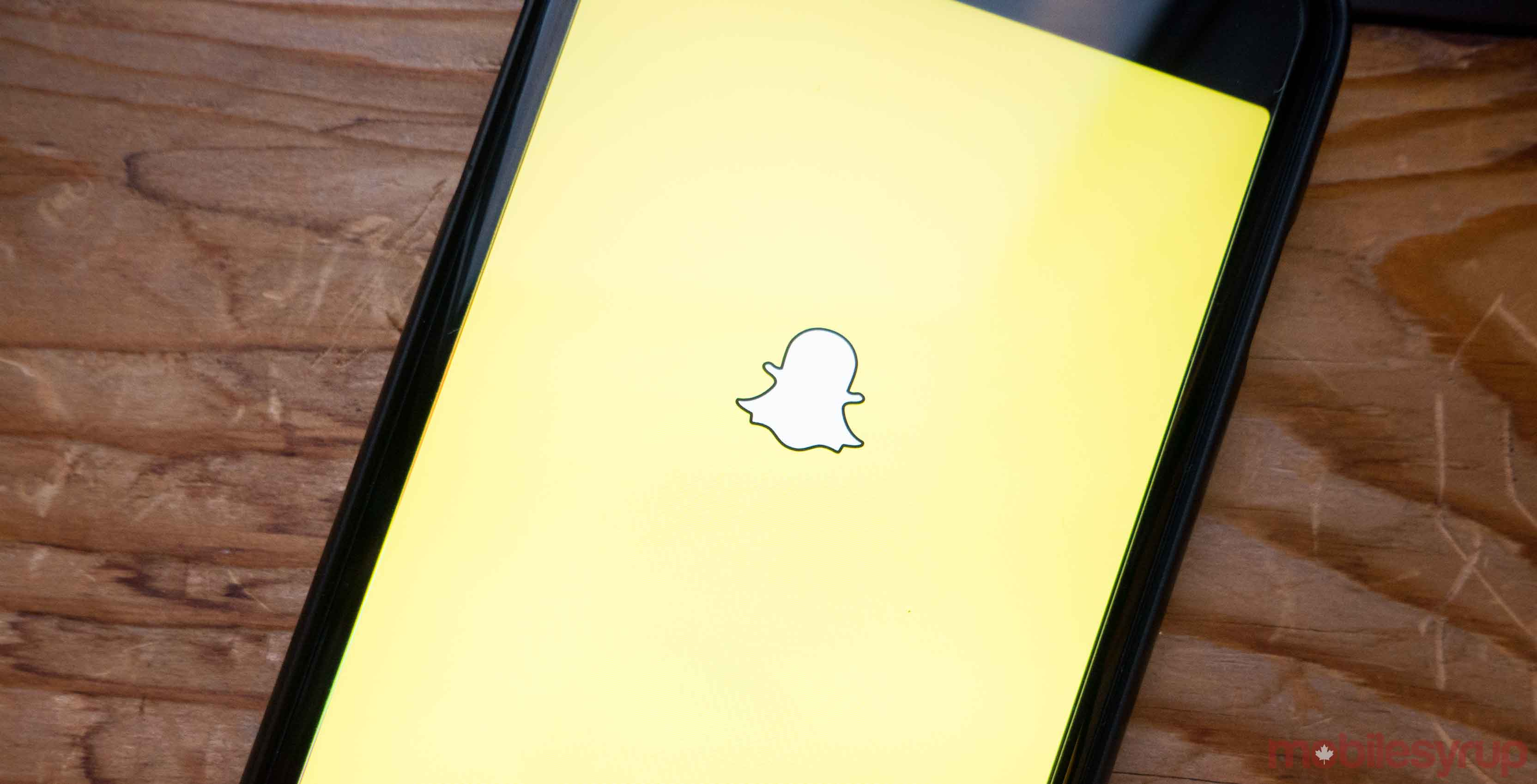 Snapchat logo on iPhone