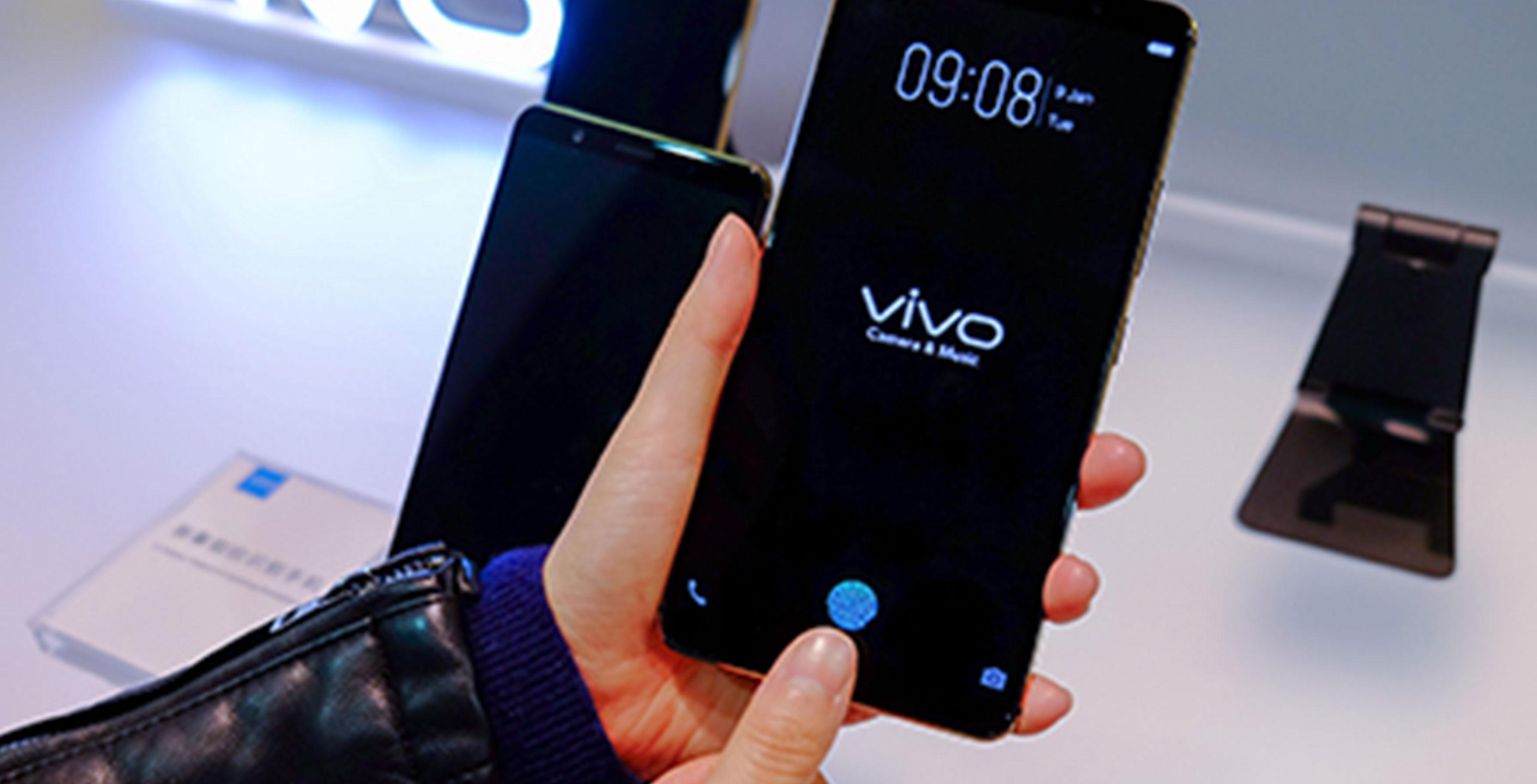 Vivo phone with in-display fingerprint scanner