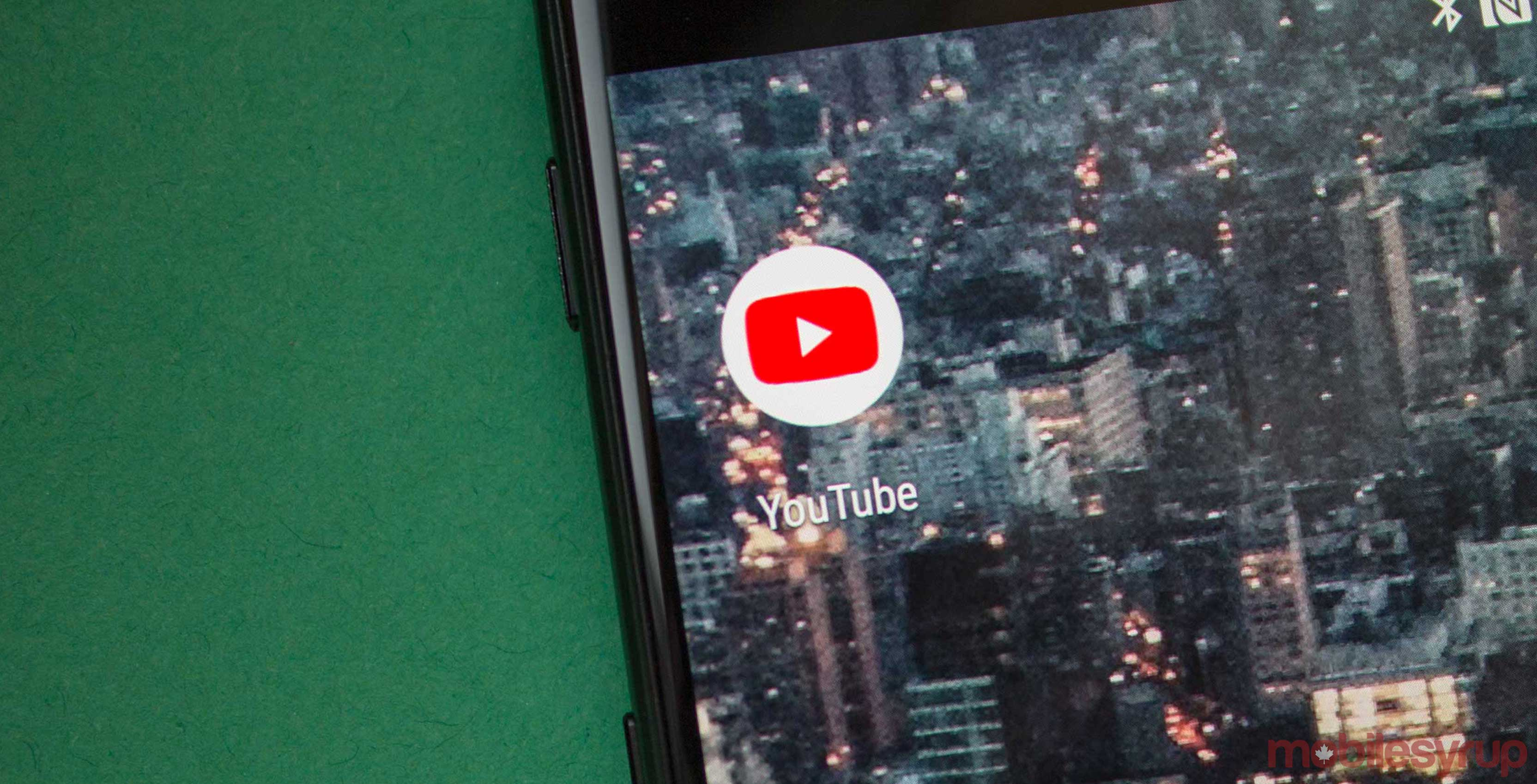 YouTube app on Android
