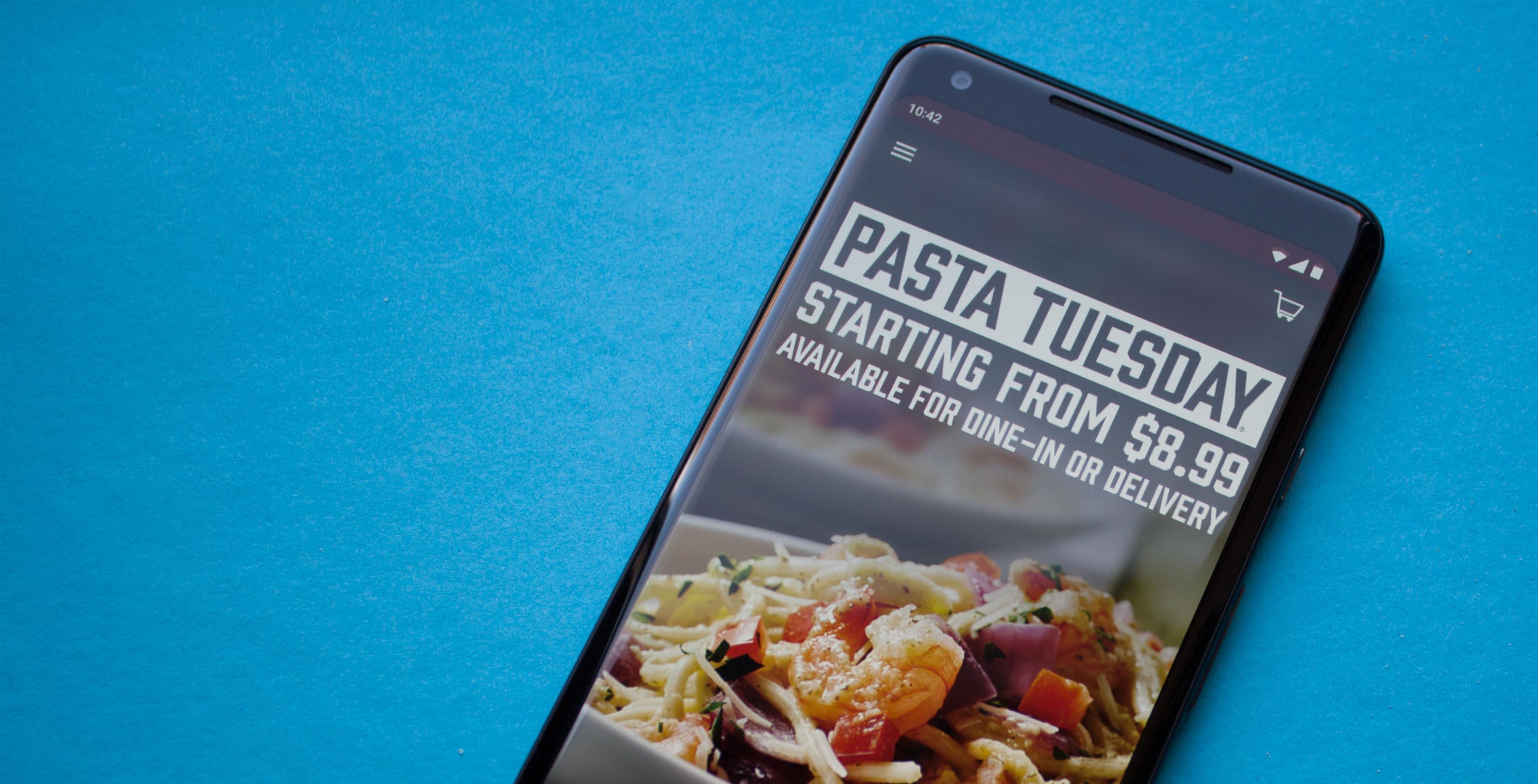 Boston Pizza smart phone application