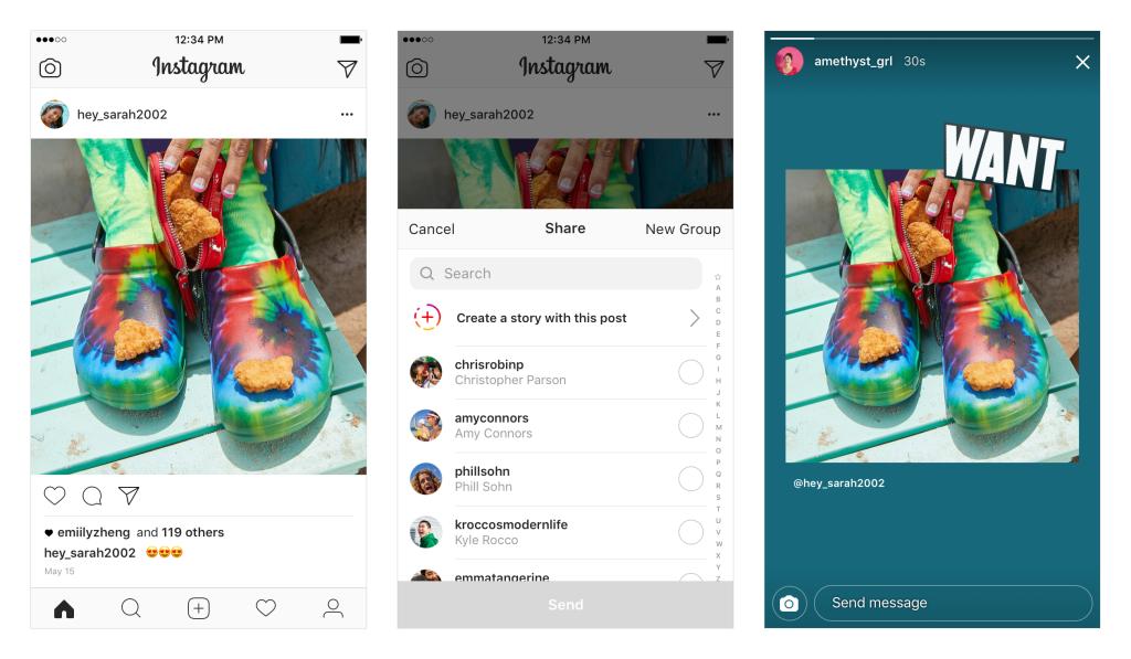 Instagram reshare posts