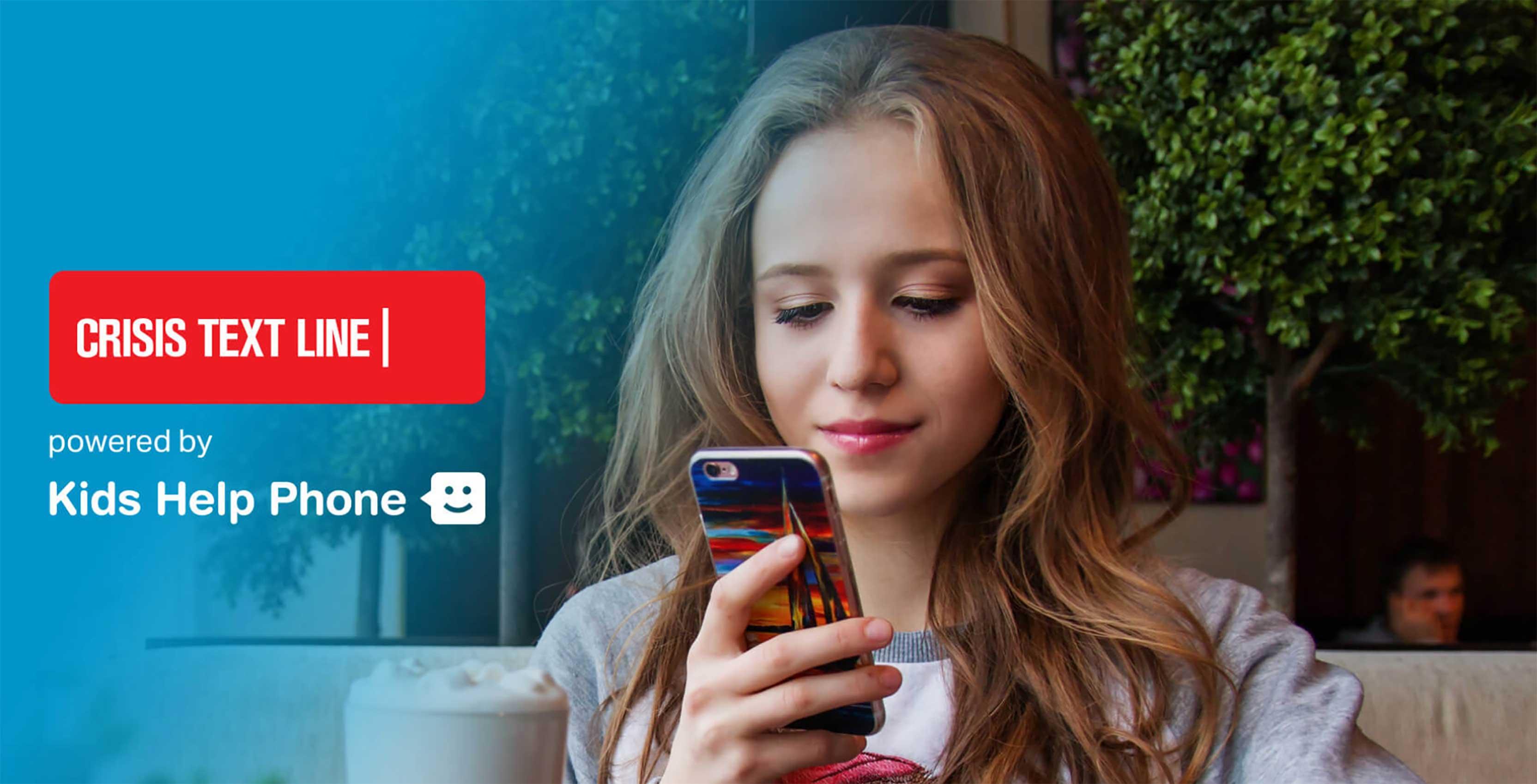 Kids Help Phone Crisis Text Line girl
