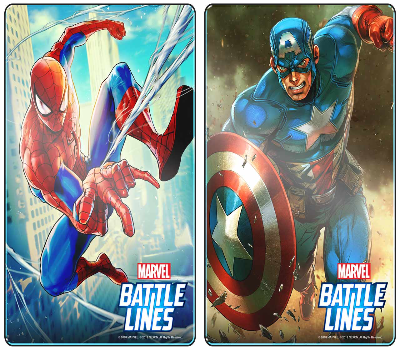Marvel Battle Lines Spider-Man and Captain America