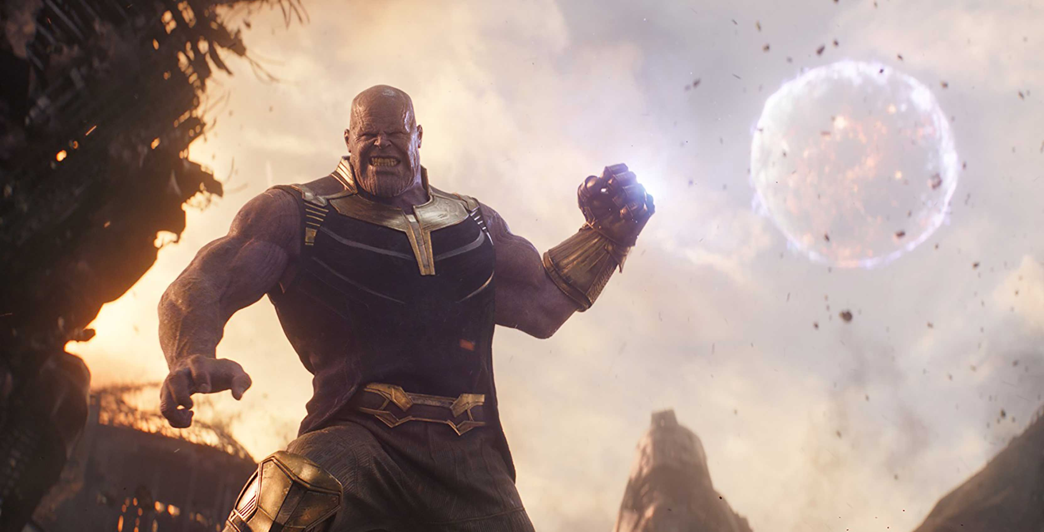 Avengers: Infinity War Thanos throws moon