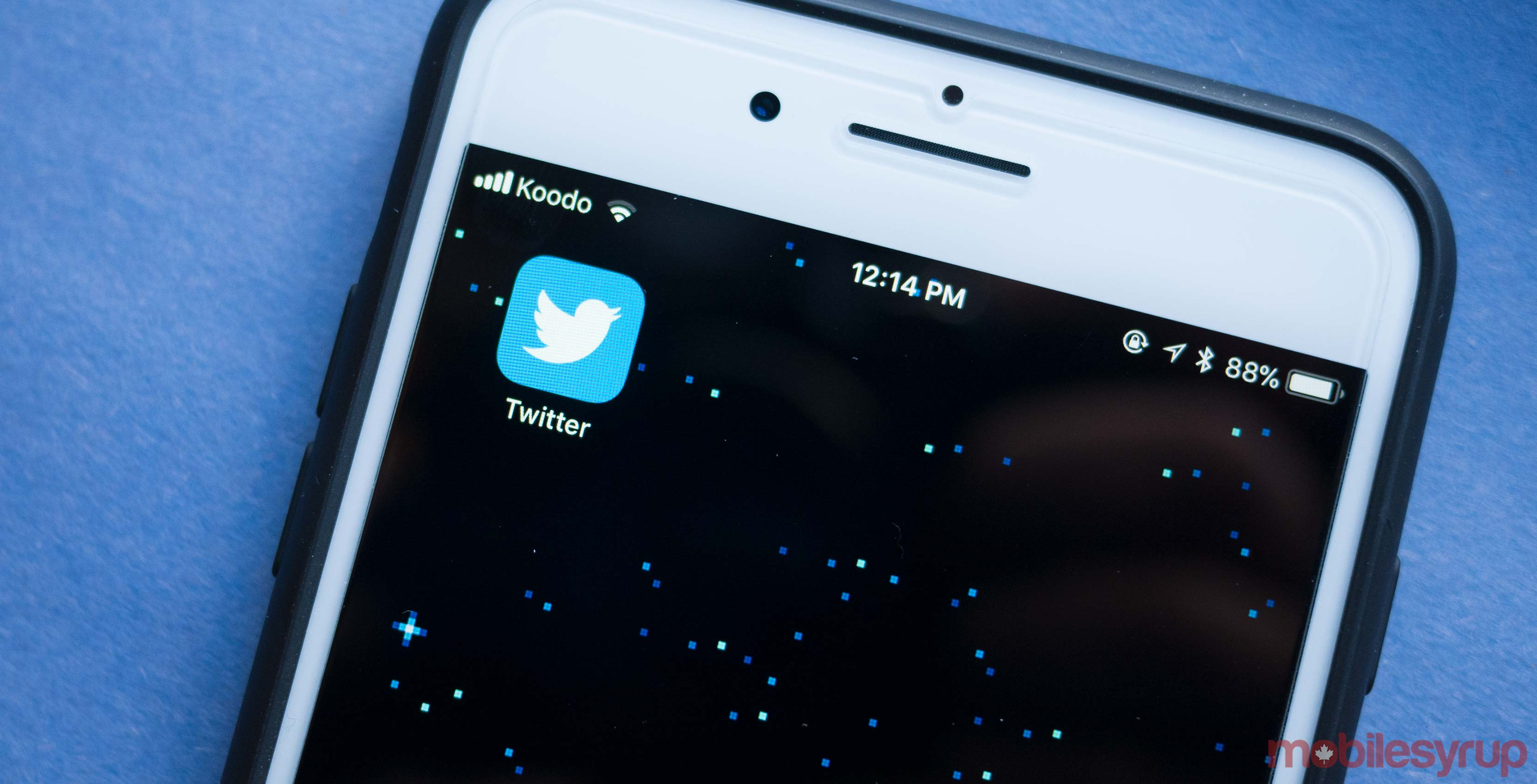 Twitter app on iPhone