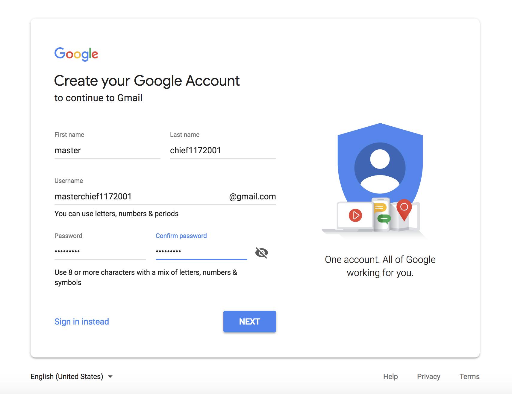 U.S. Gmail Address