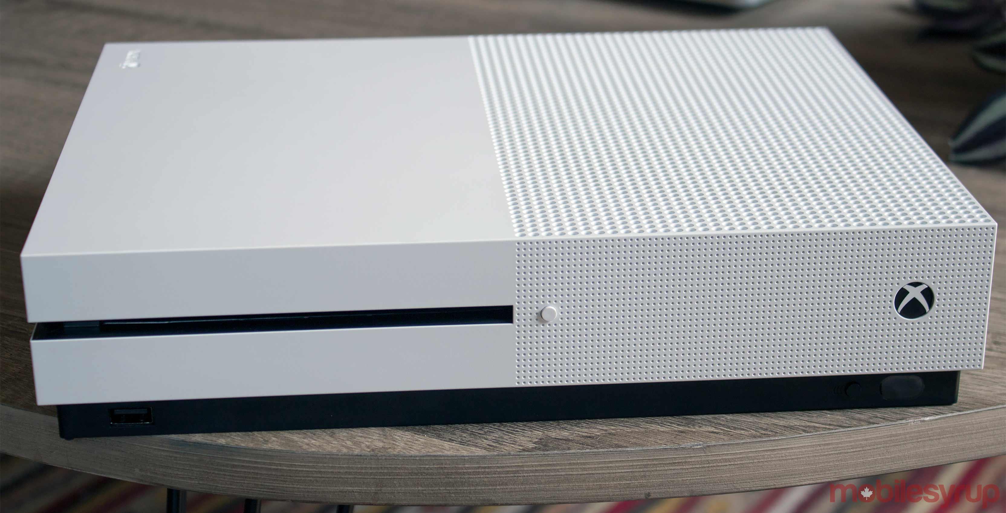 Xbox One S white console