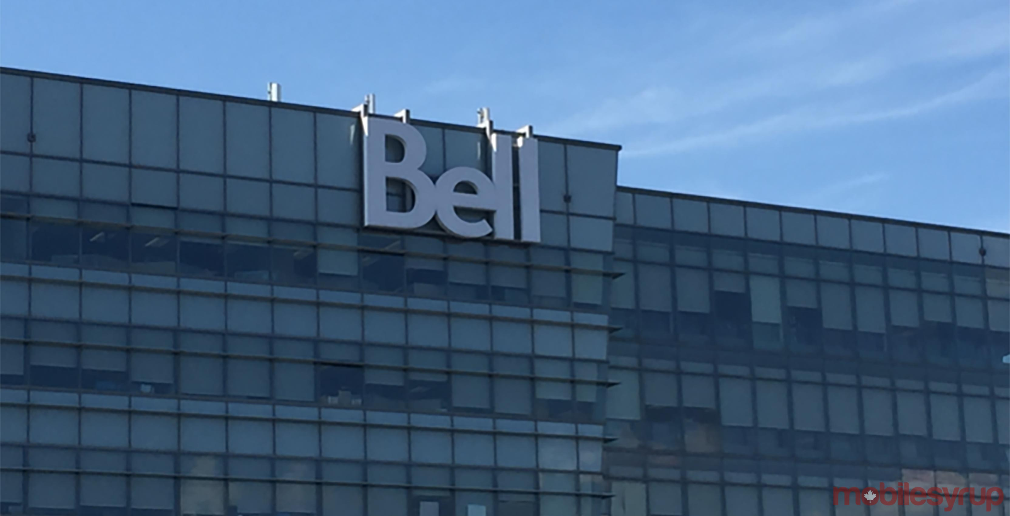 Bell logo on building