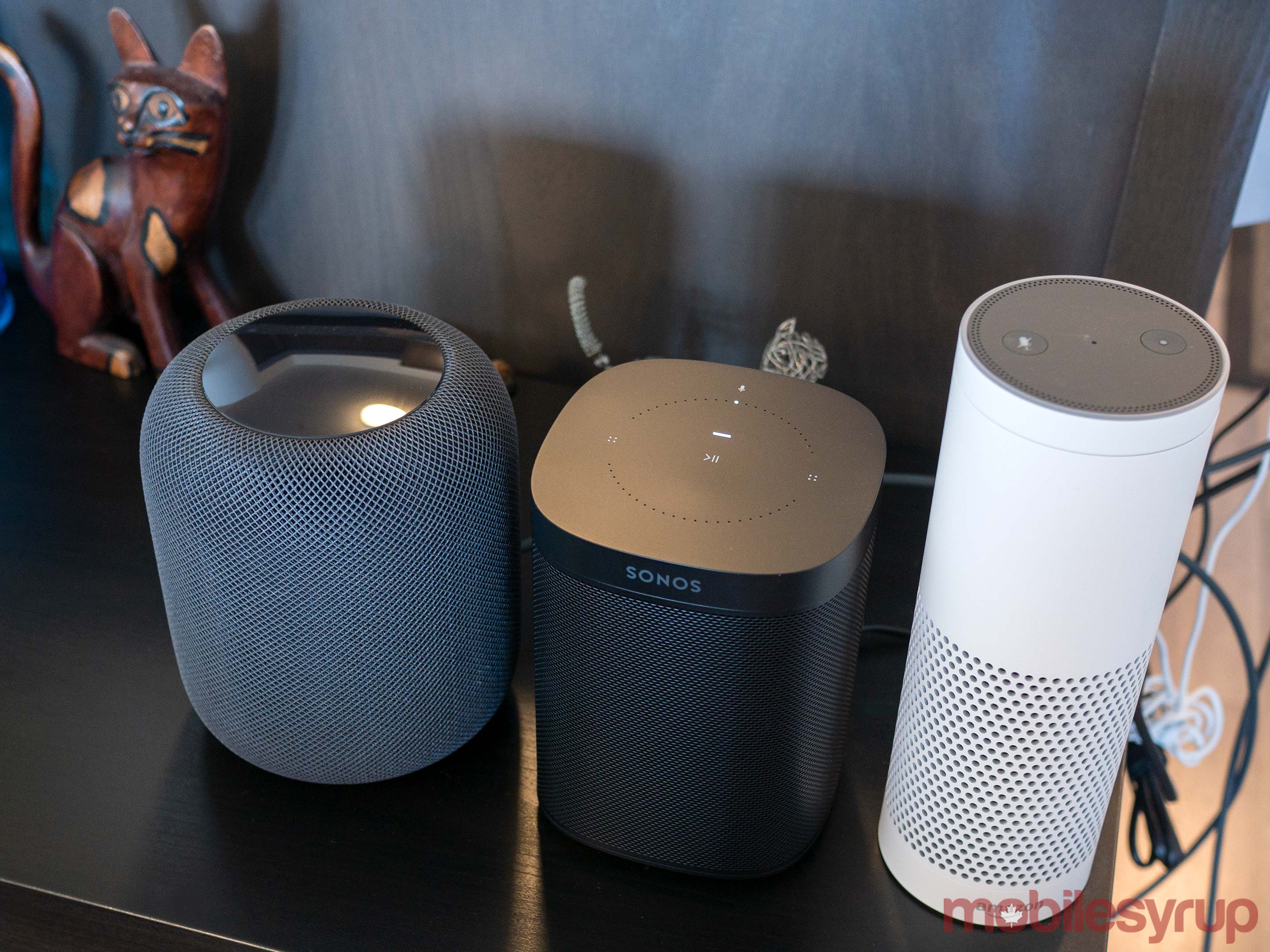HomePo, Sonos One, Amazon Echo