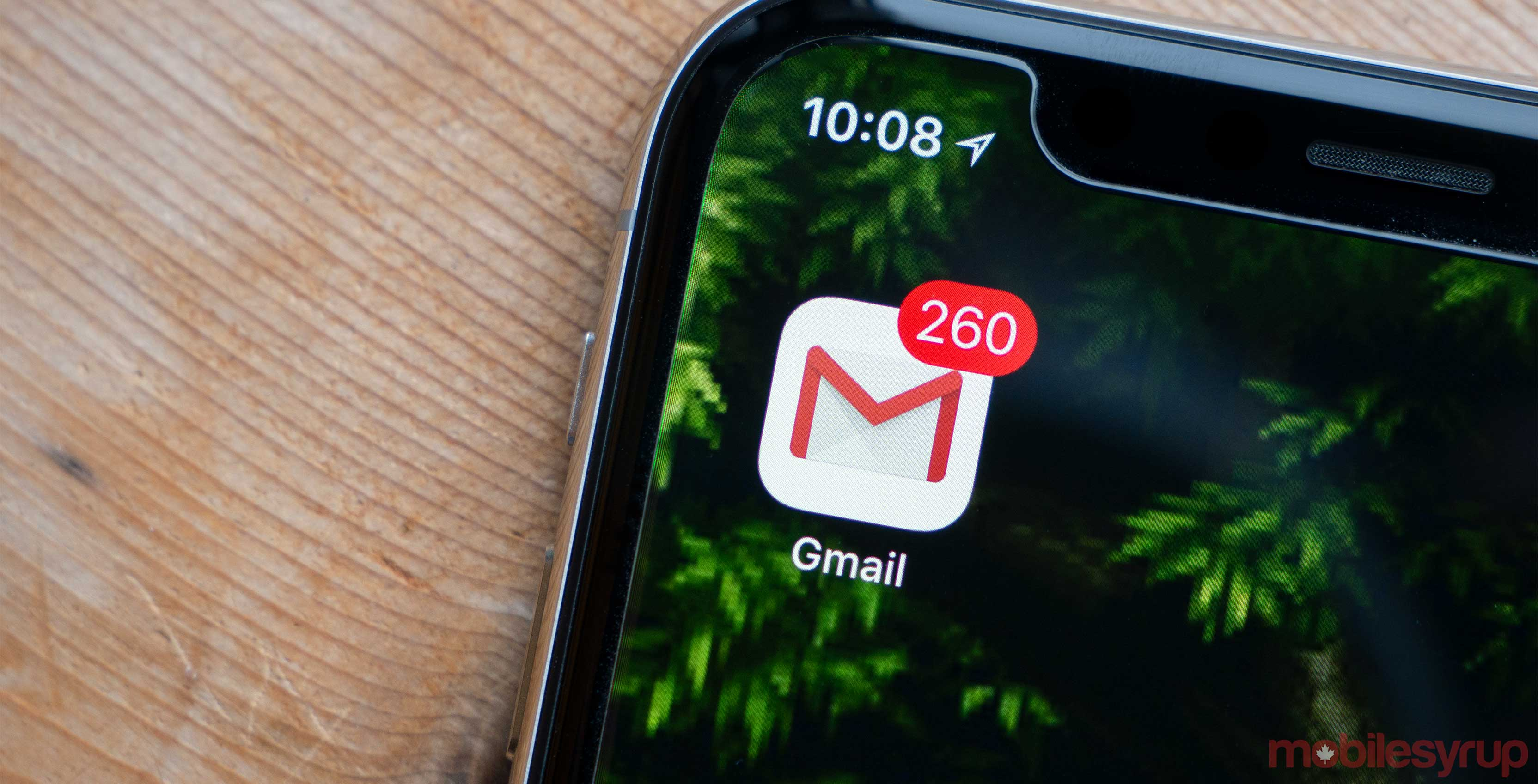 Gmail app on iOS