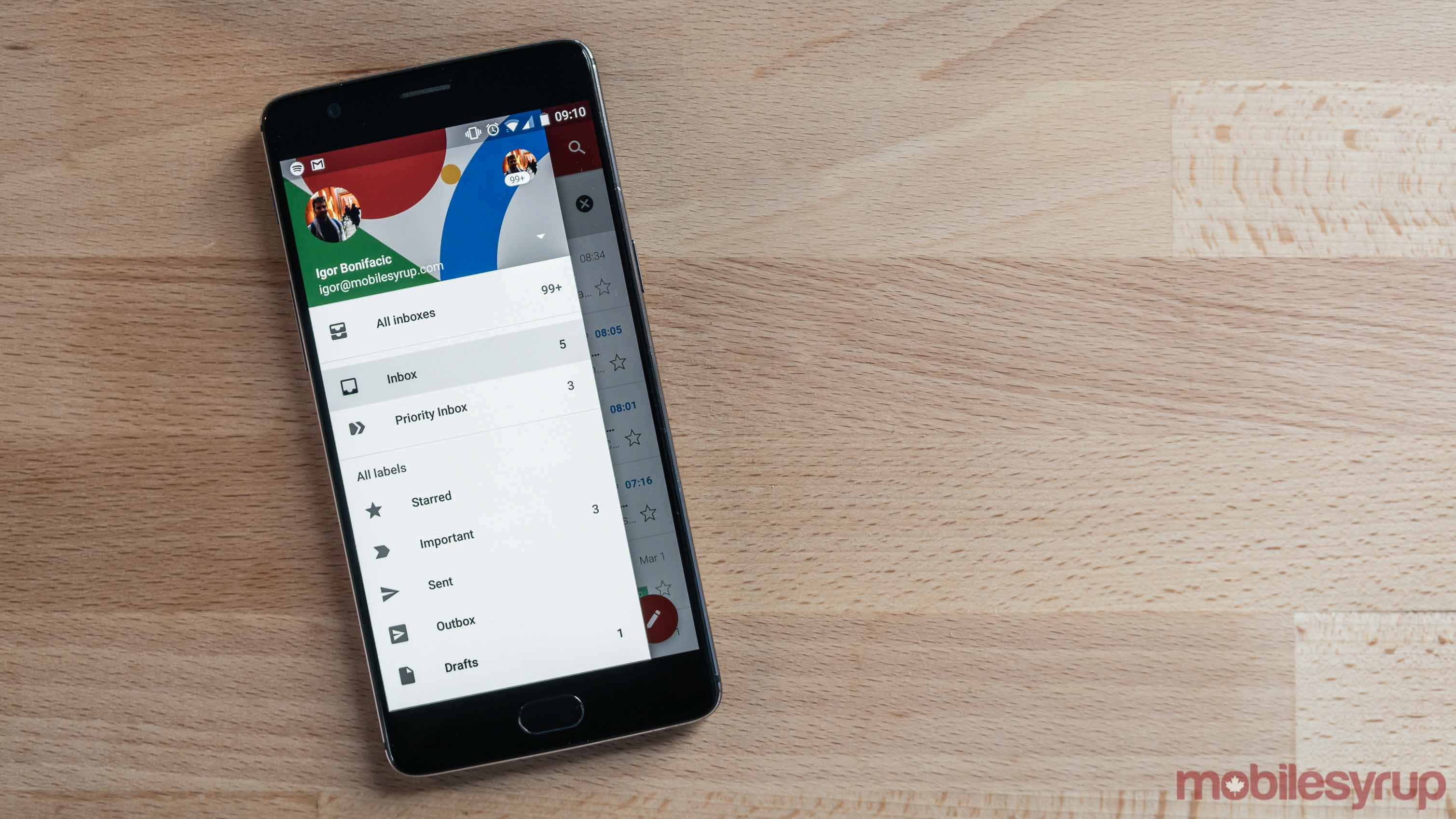 Gmail app on Android phone