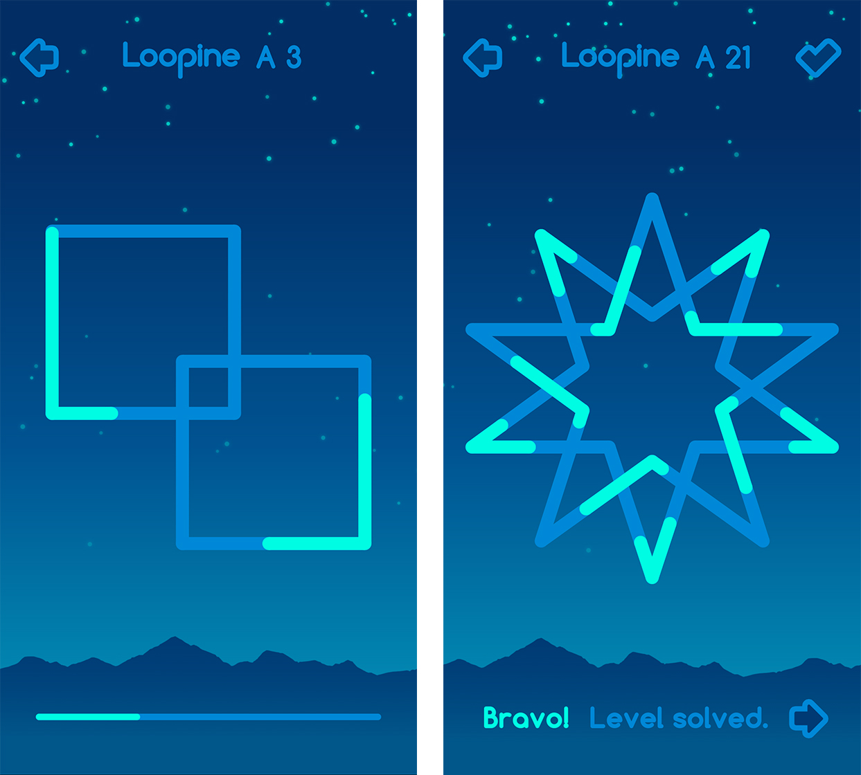 Loopine level 3 and 21