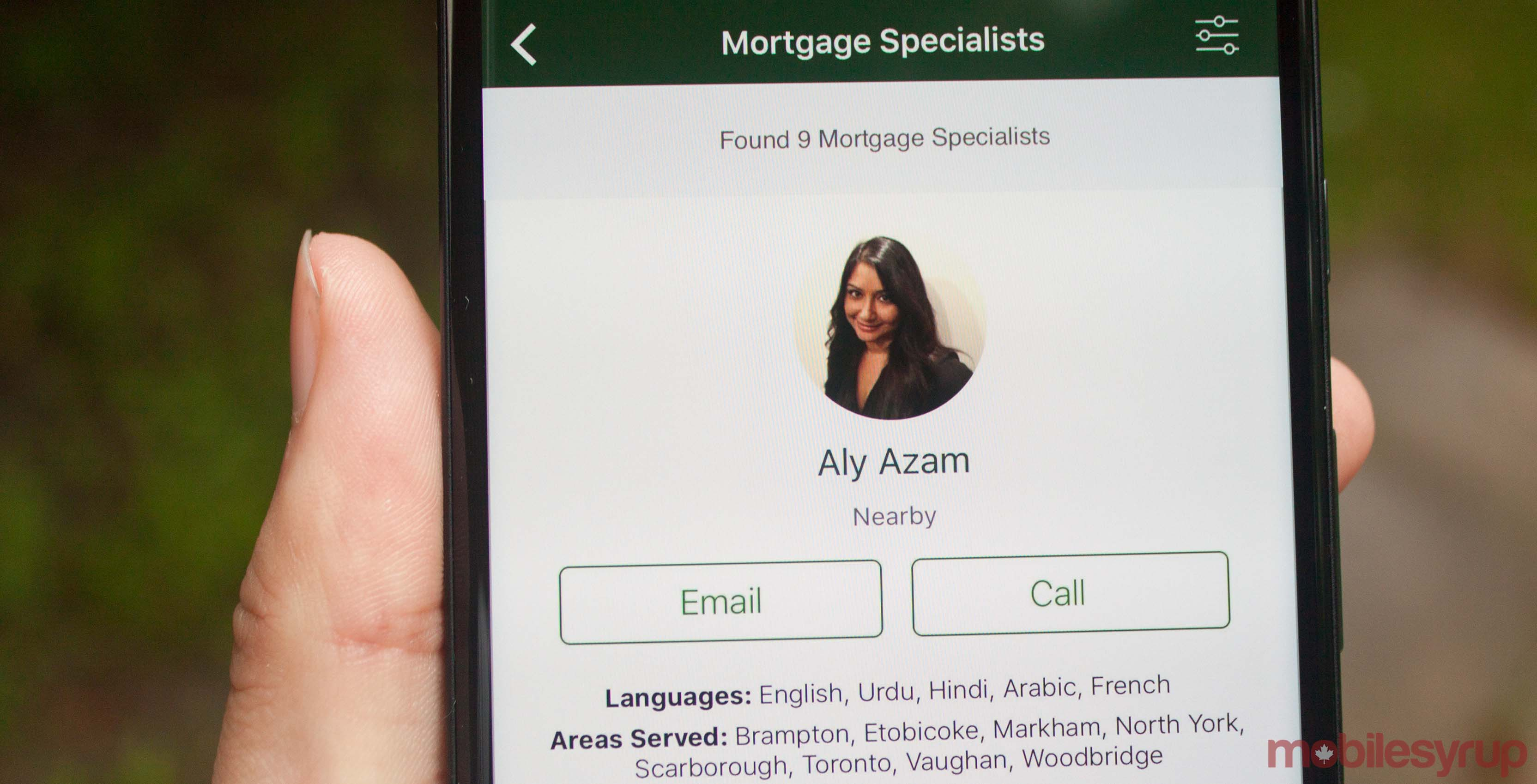TD Mortgage Specialist connection