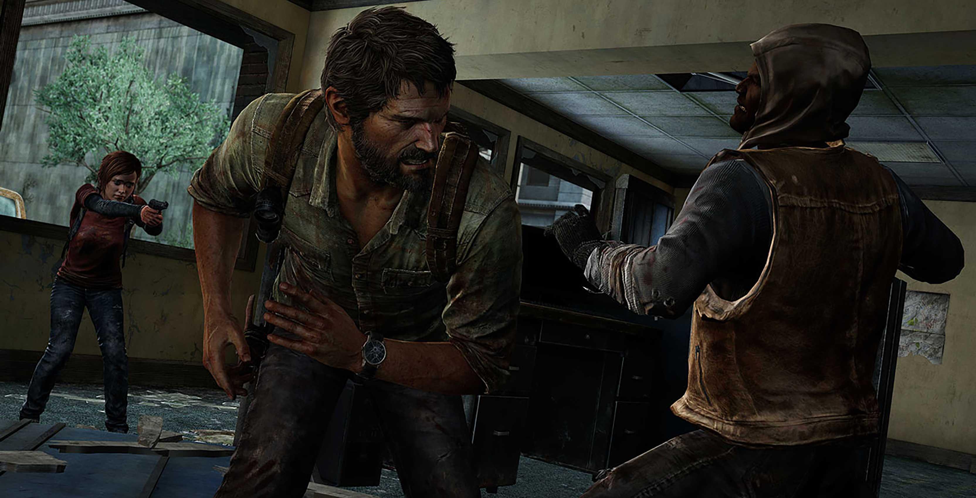 The Last of Us Remastered Joel and Ellie versus human