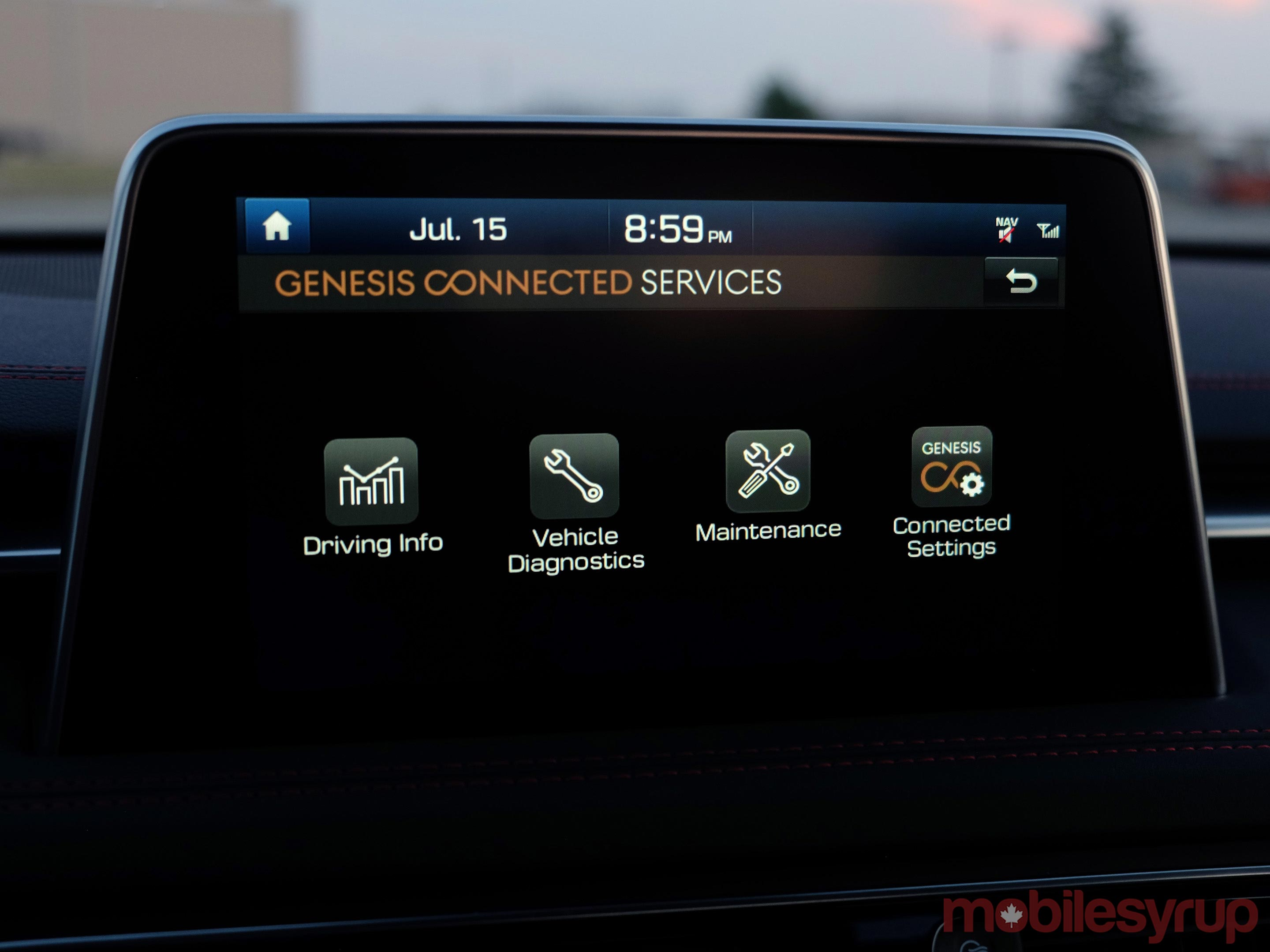 Hyundai Genesis G70 connected services