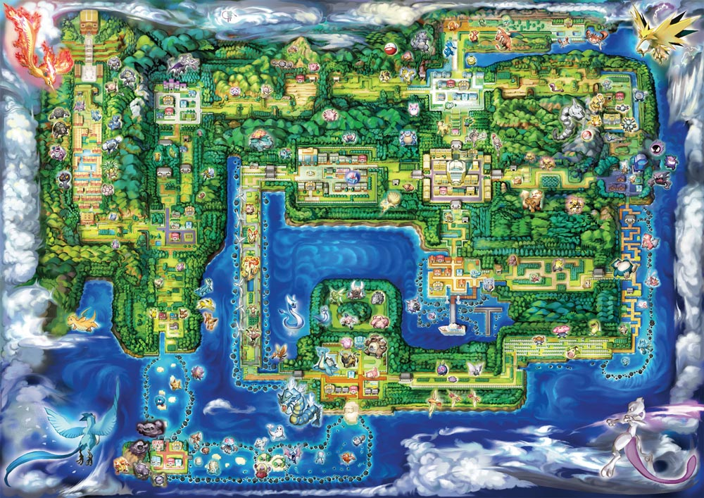 Pokemon Let's Go Map