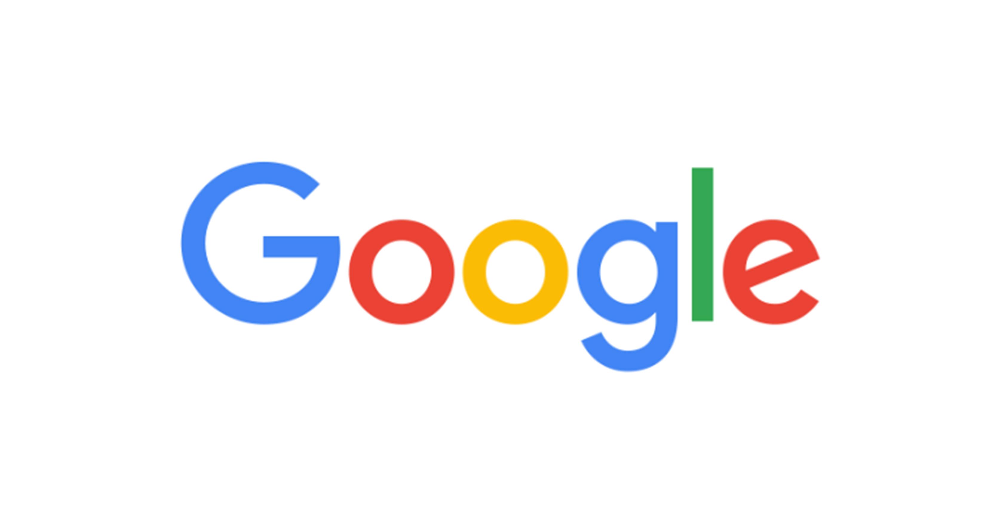 Google logo in Google Sans