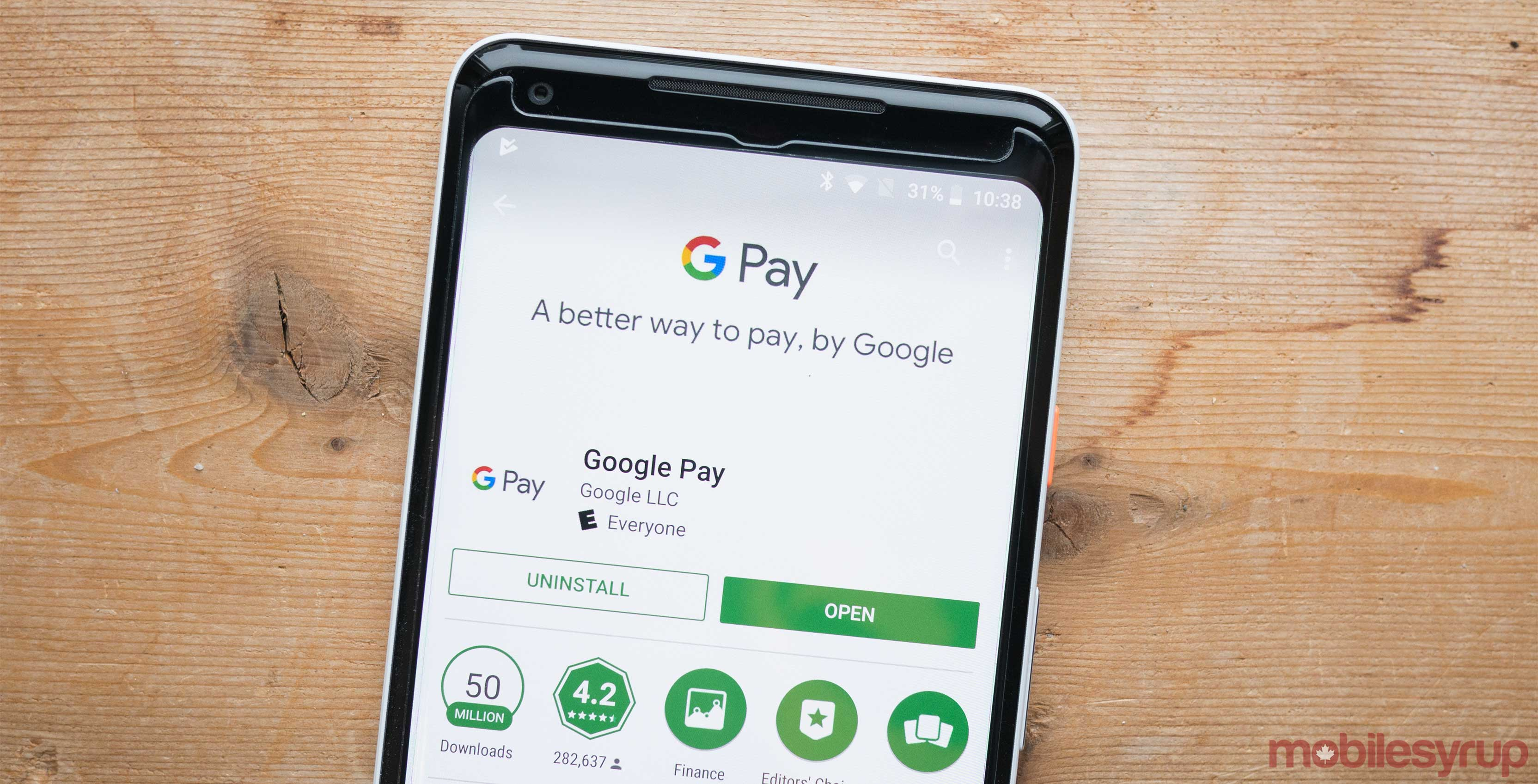 Google Pay on Android phone