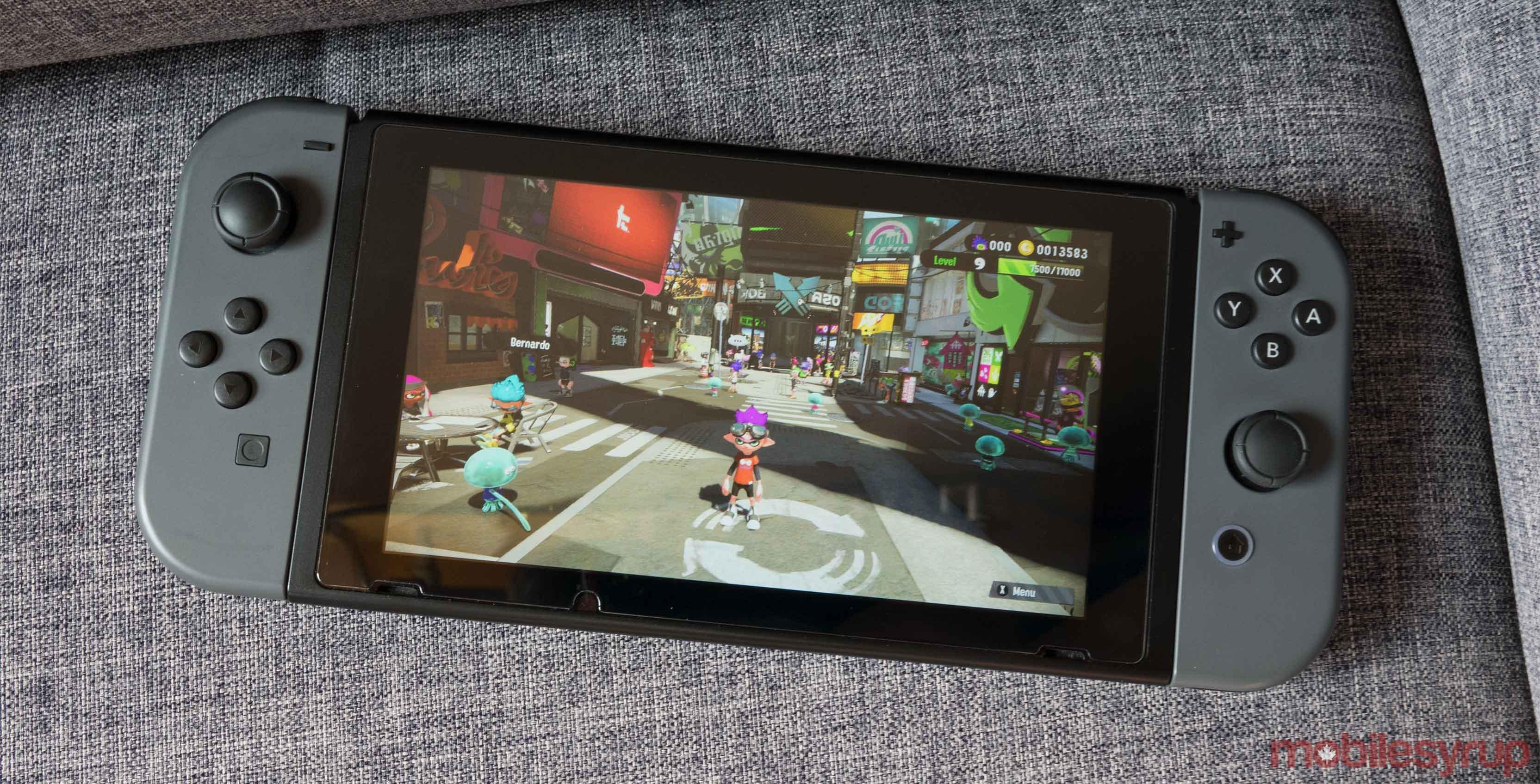 Nintendo Switch with Splatoon 2