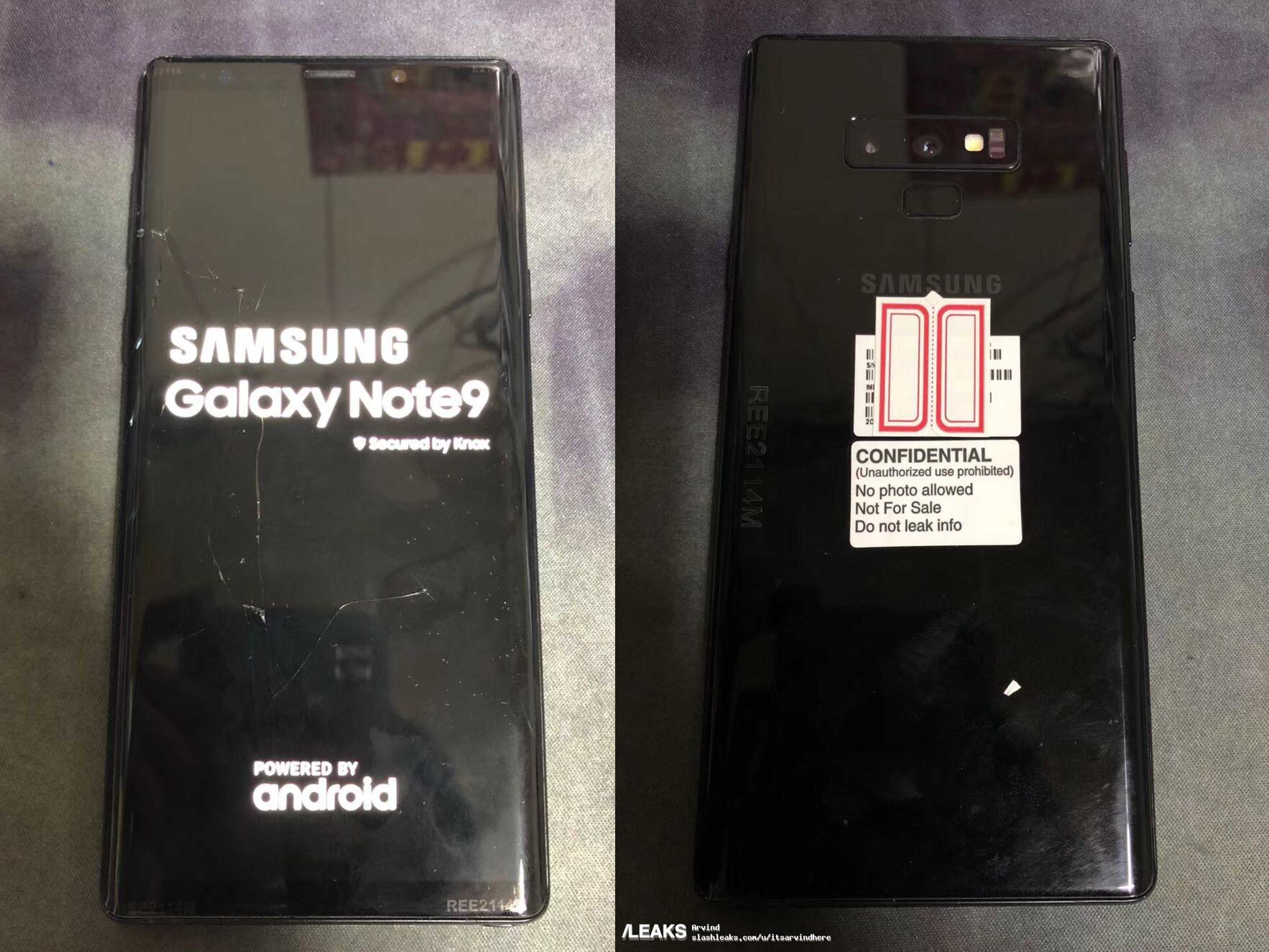 Note 9 leaked photos