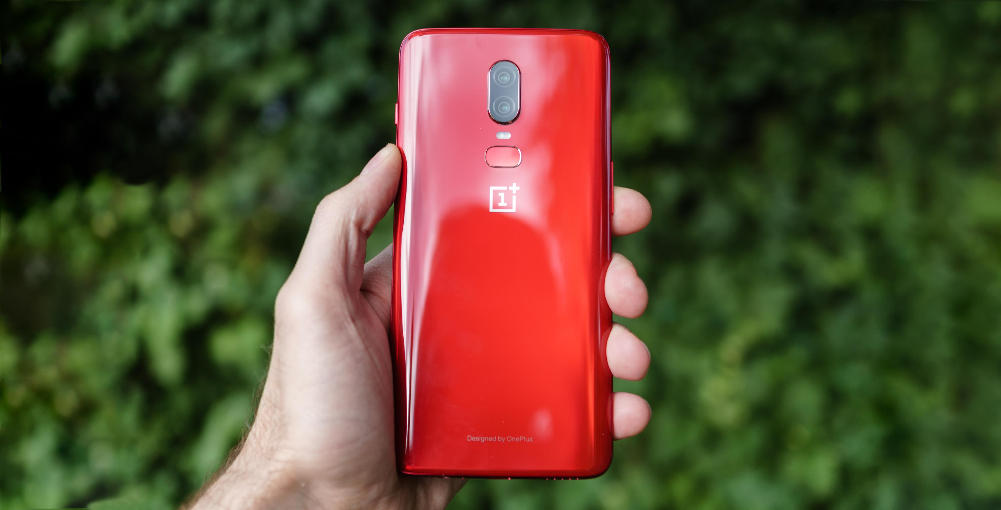 The OnePlus 6 in 'Red'