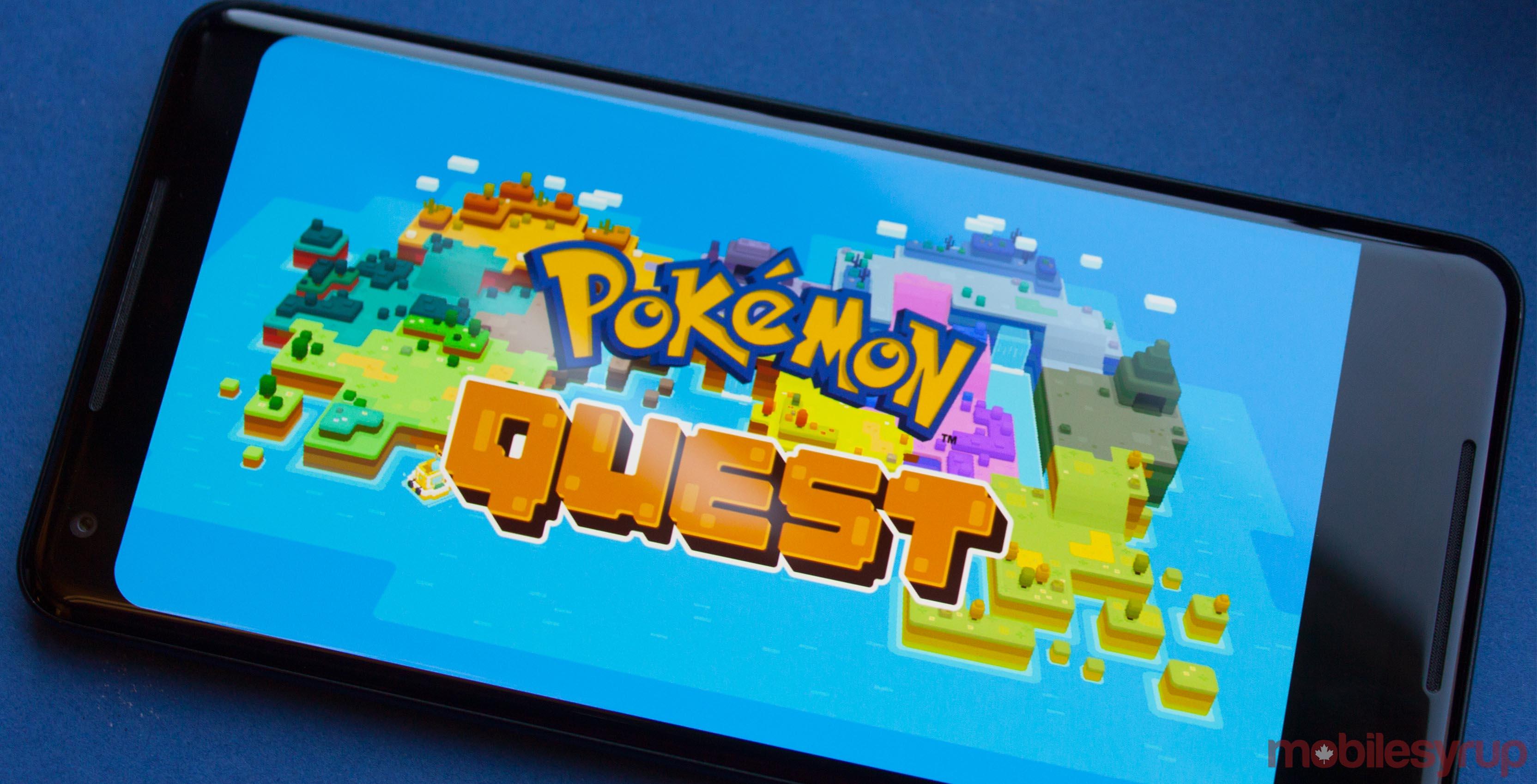 Pokemon Quest title screen