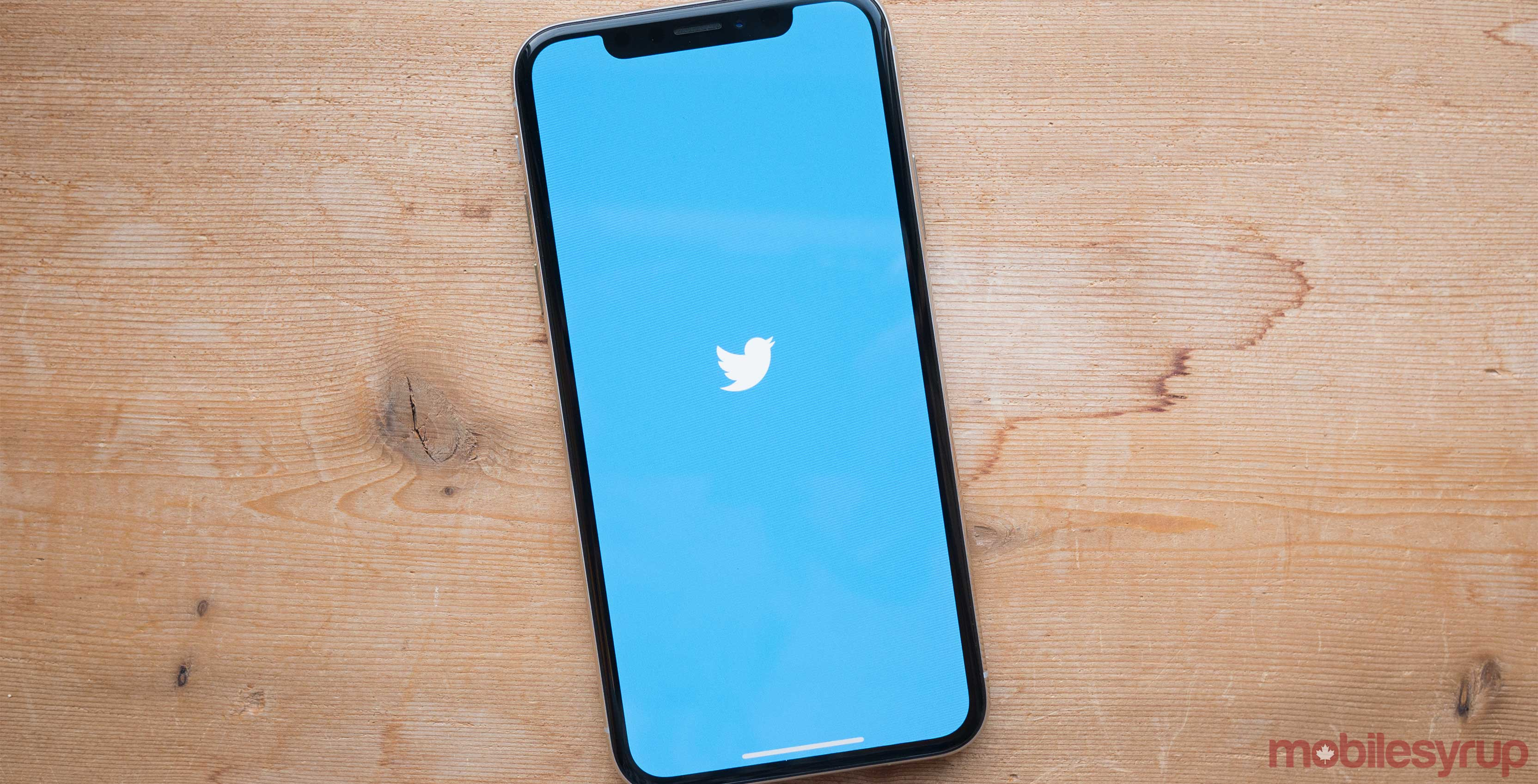 Twitter Canada on phone