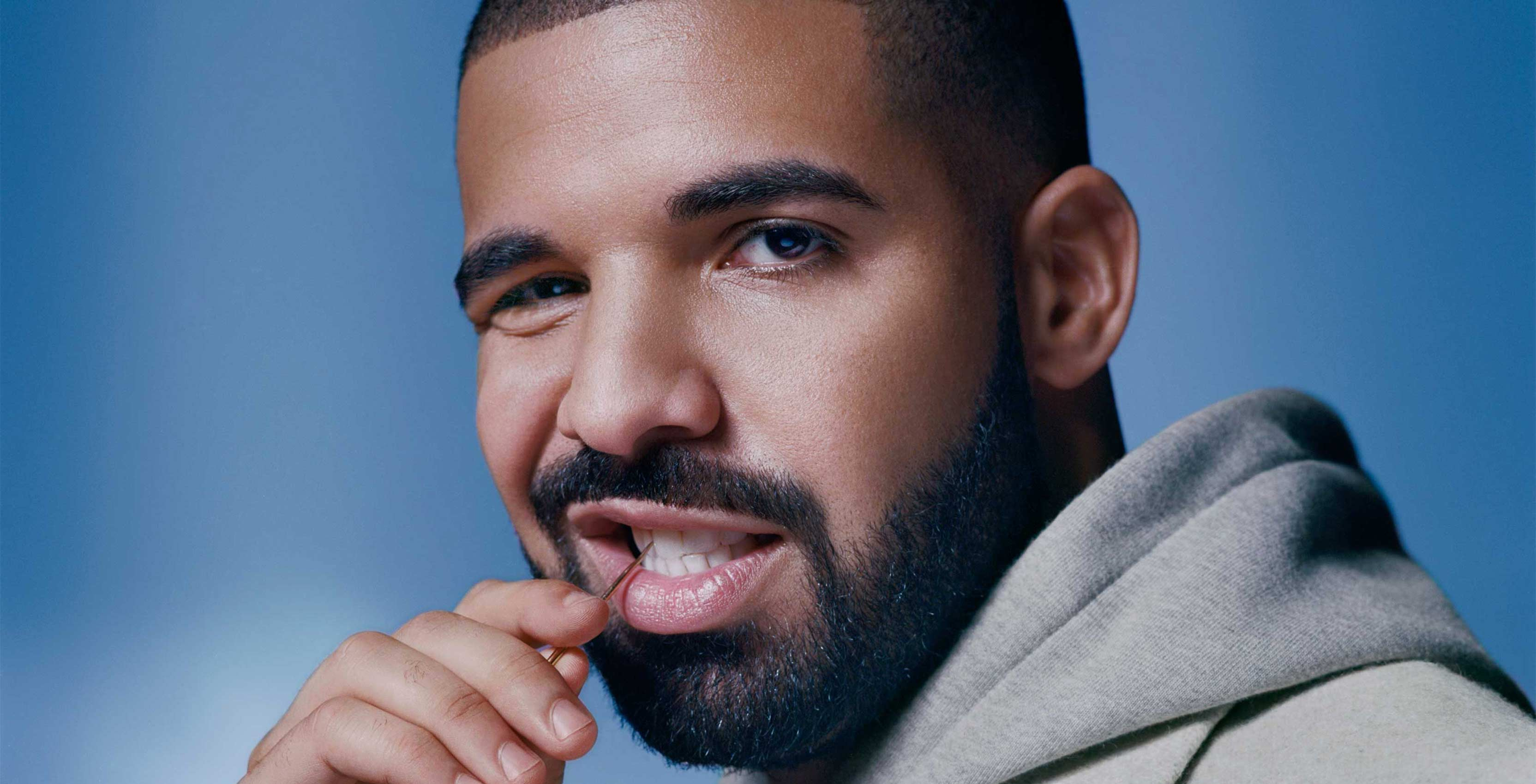 Drake with toothpick