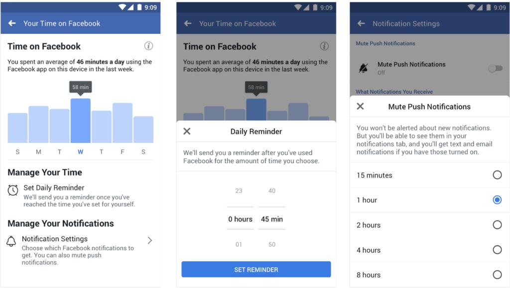 Facebook and Instagram usage