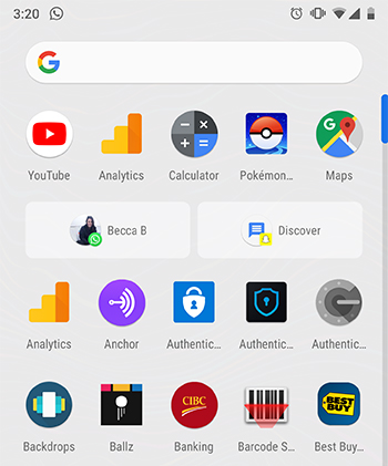 Android Pie App Actions