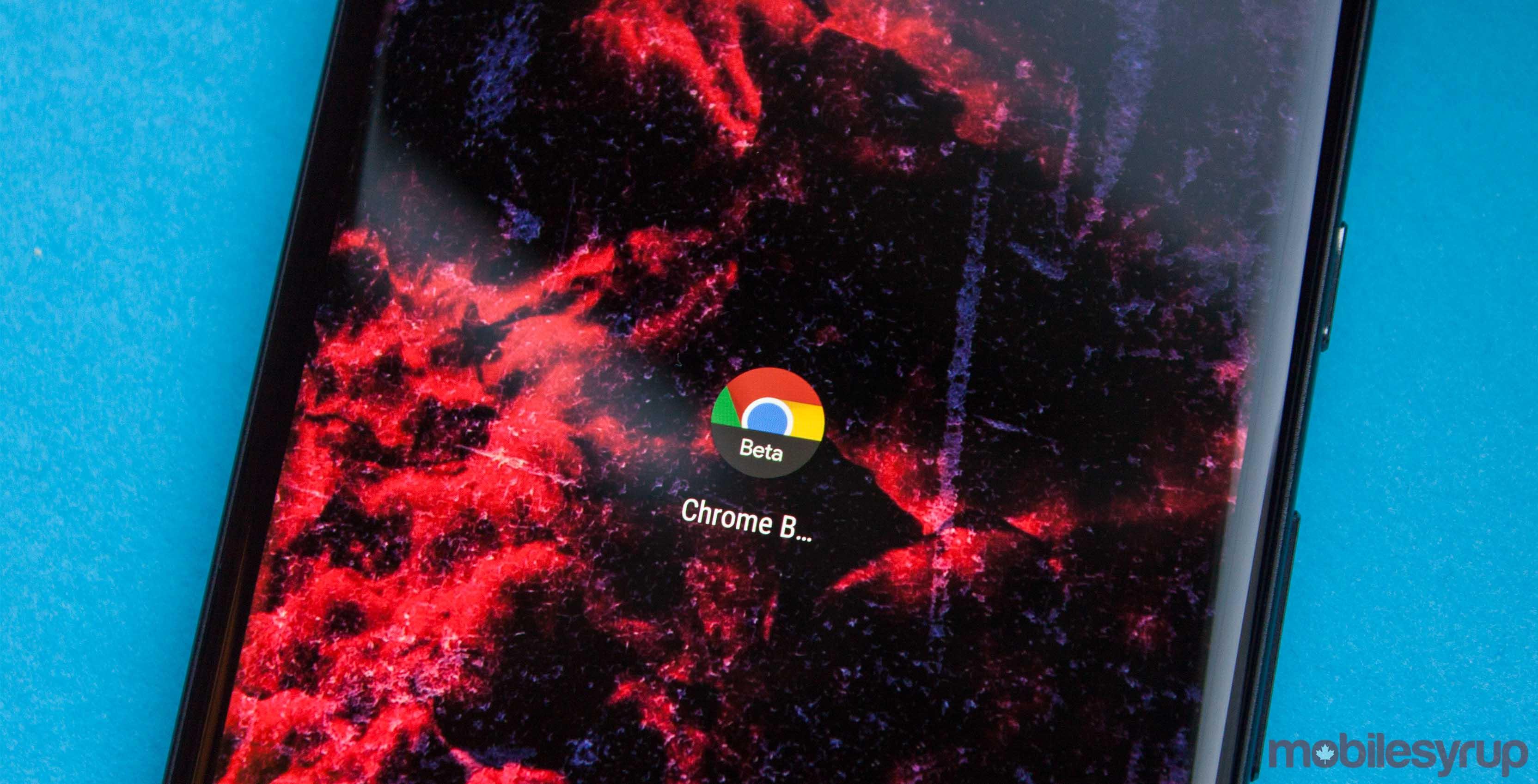 Chrome Beta app on Android