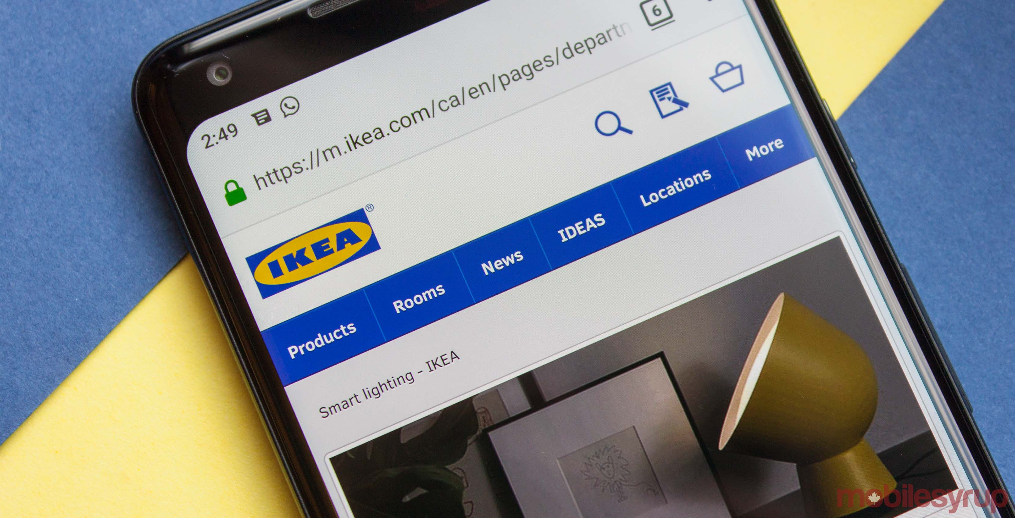 Ikea website on Android