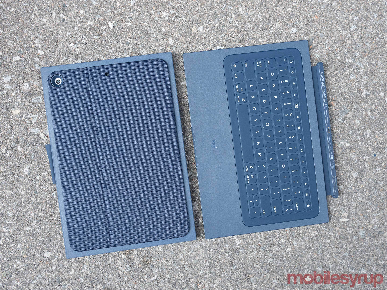 logitech rugged keyboard top-down