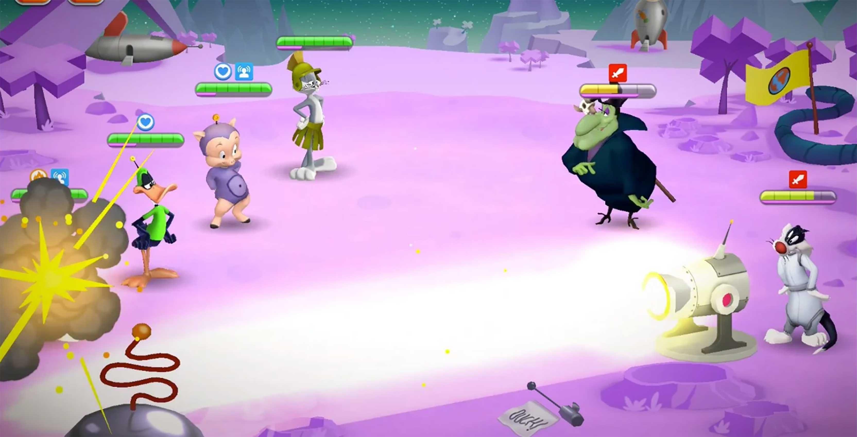 Looney Tunes World of Mayhem combat