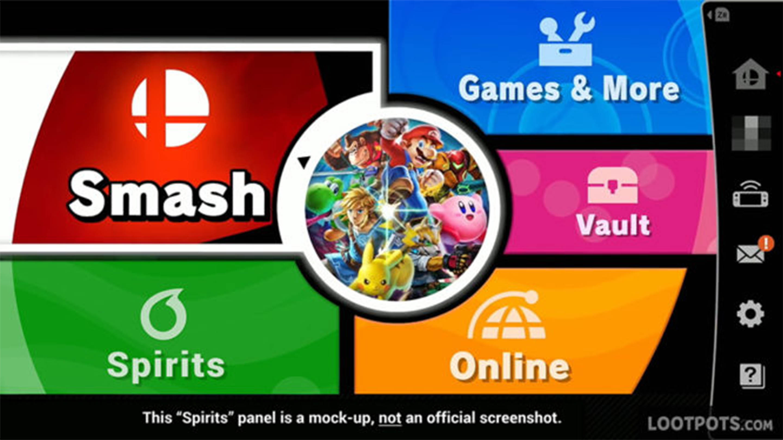 Super Smash Bros. Ultimate menu recreation