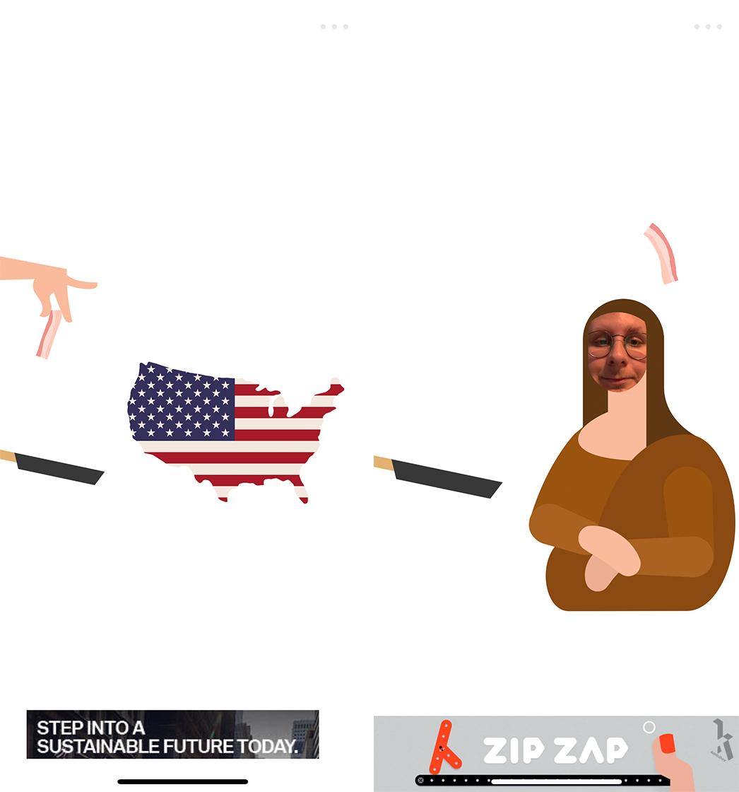 Putting Bacon on America and the Mona Lisa