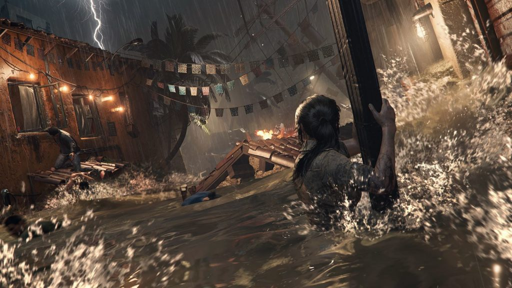 Shadow of the Tomb Raider destruction